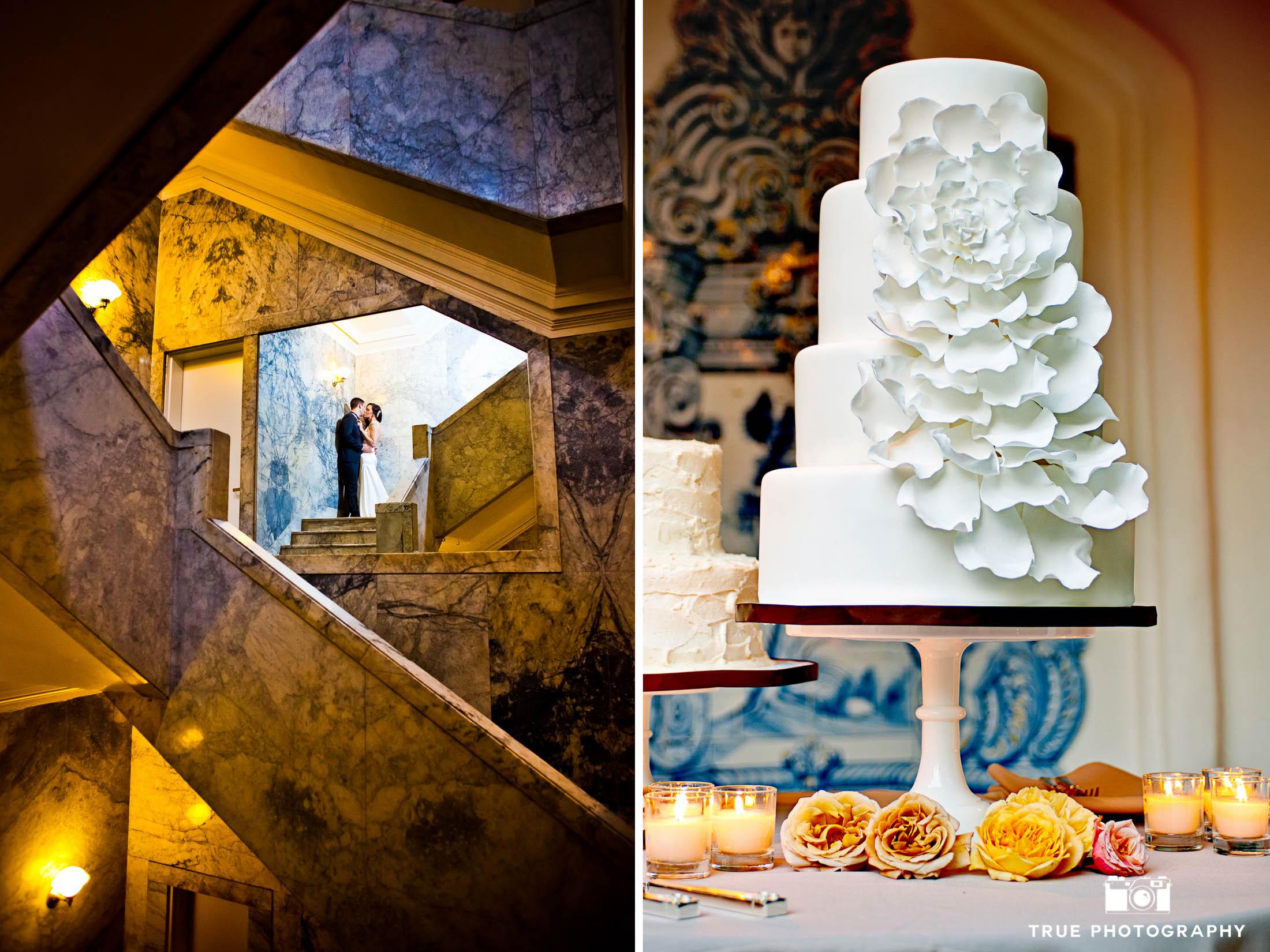 Modern Ruffled Wedding Cake