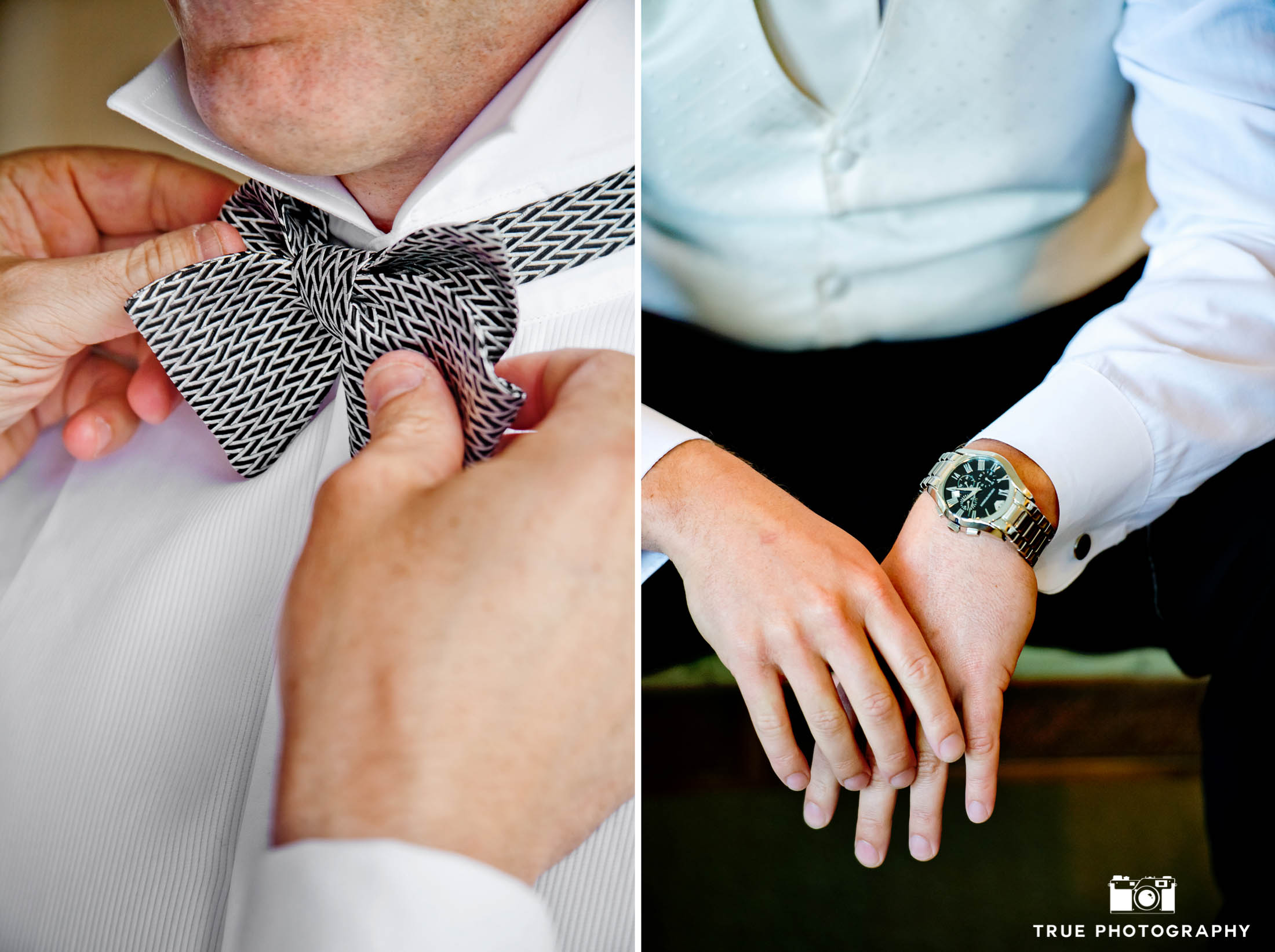 Groom's watch and bowtie