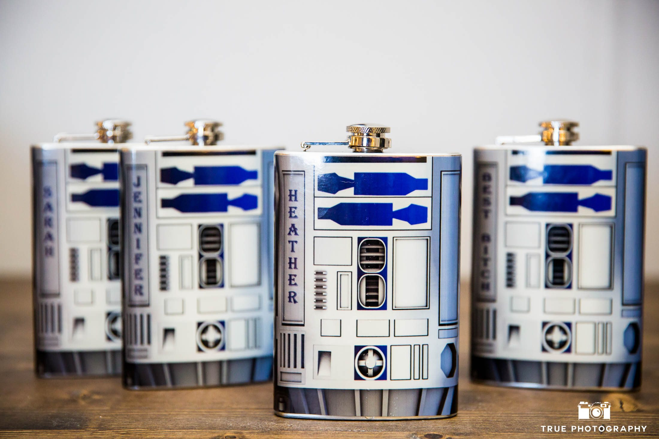 Star Wars R2D2 Flasks for Bridesmaids