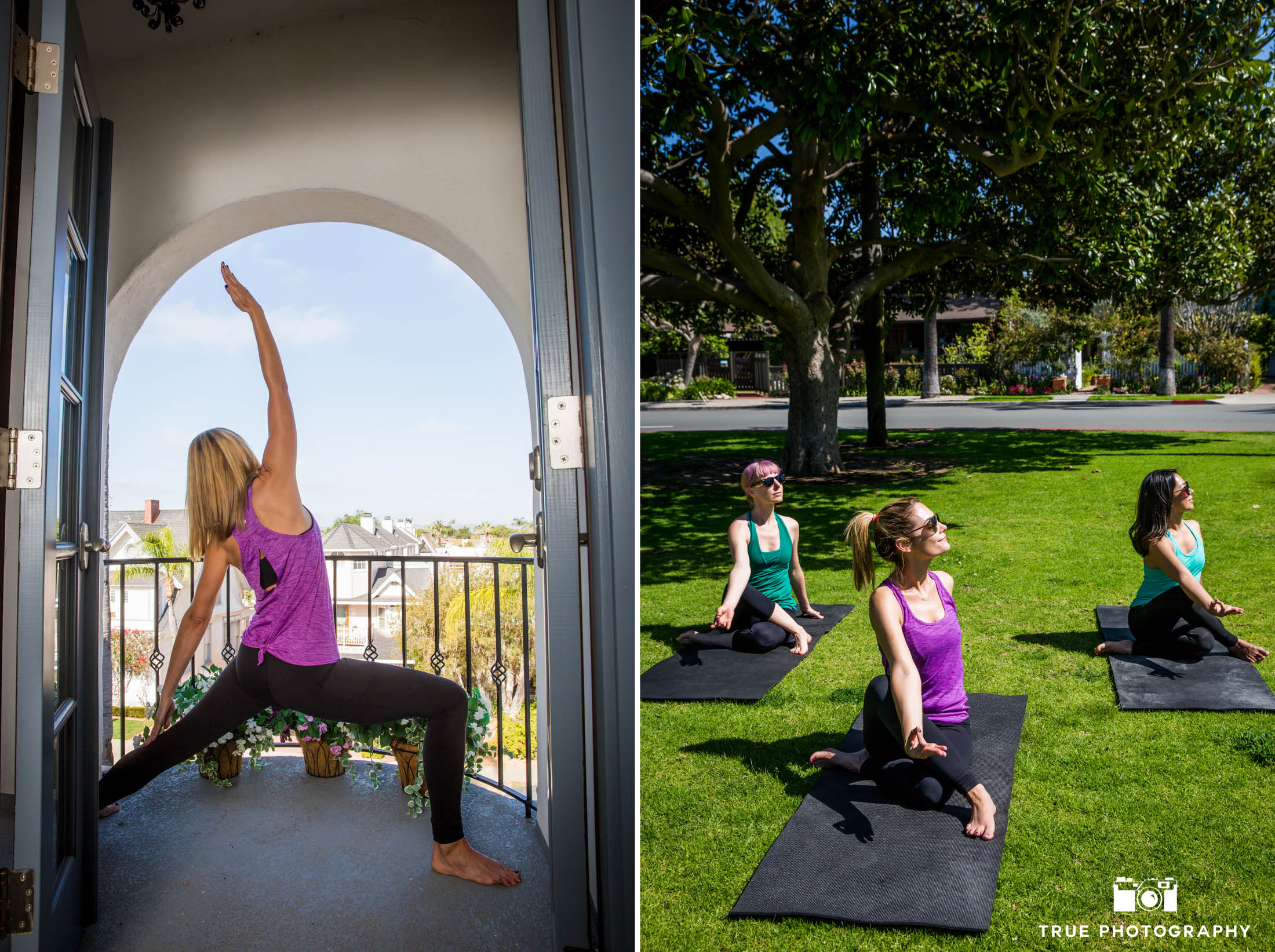 Yoga instruction at Hotel Marisol