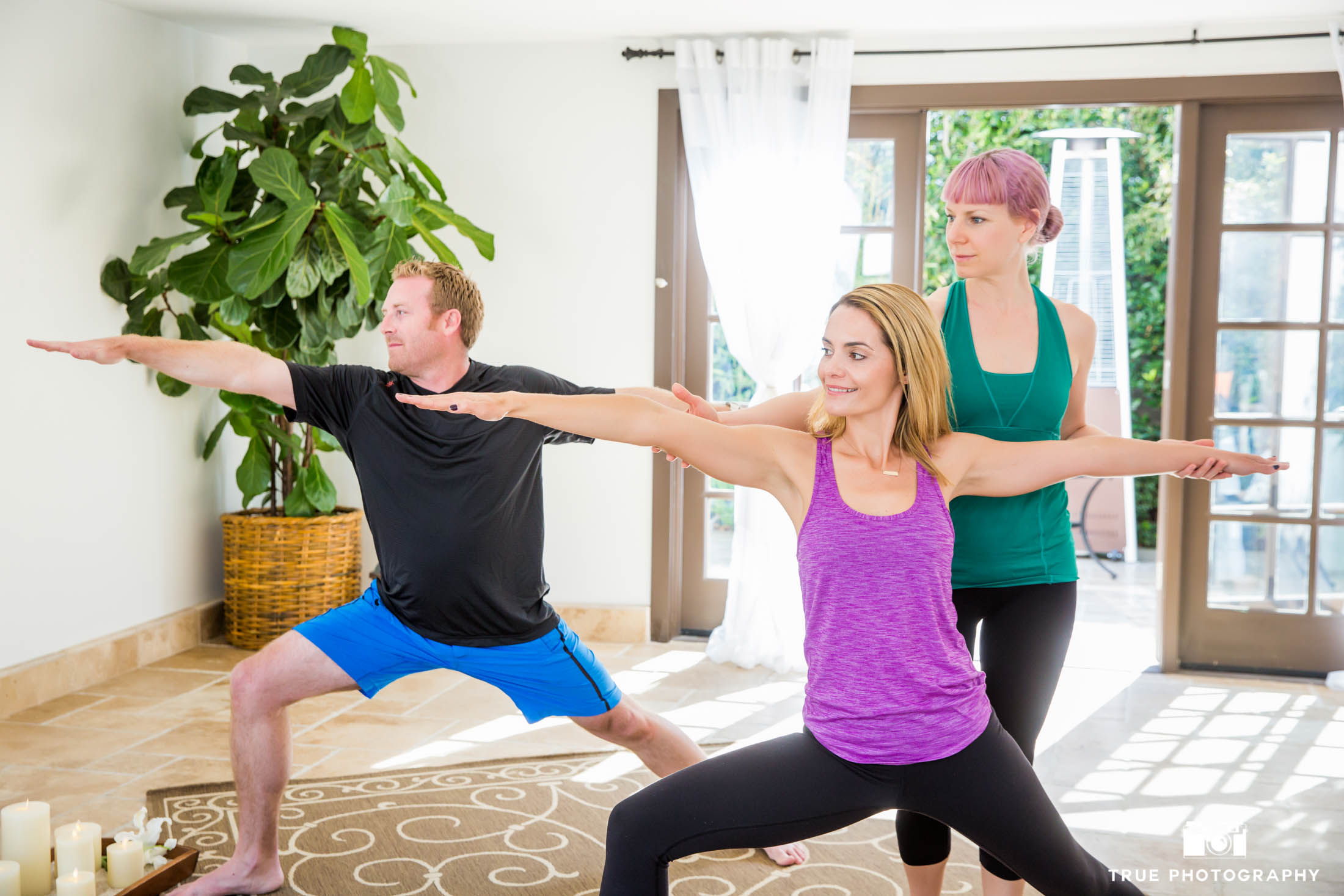 Yoga commercial photo shoot