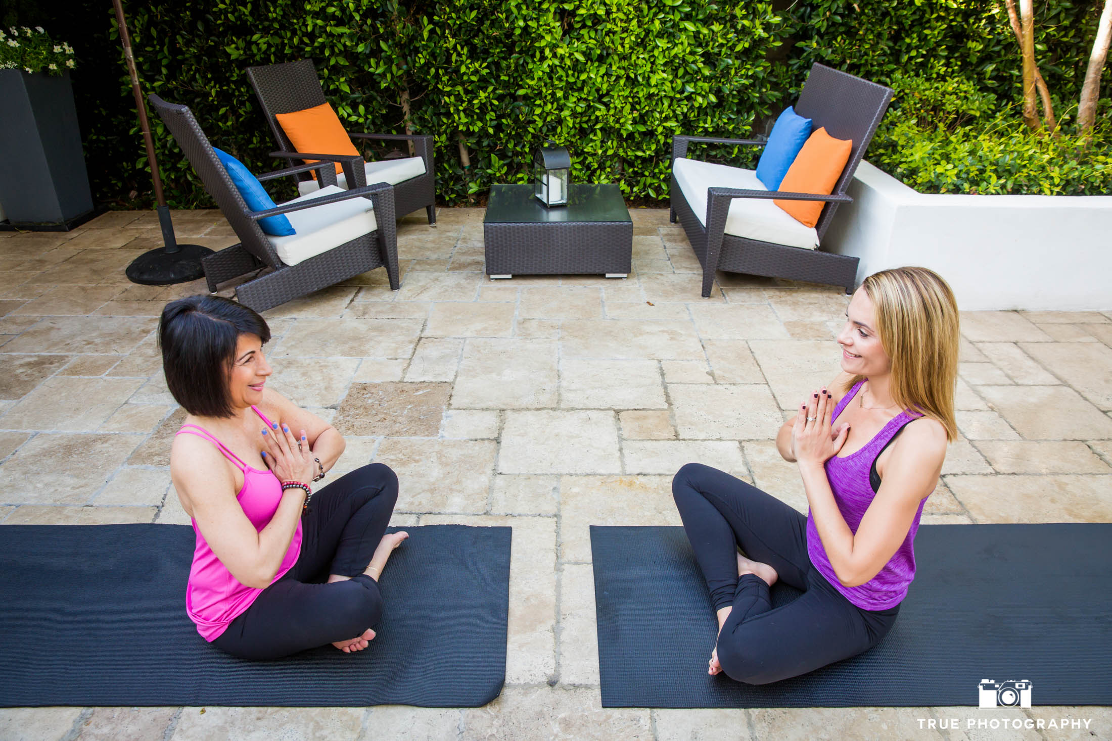 Photo shoot of Yoga at Hotel Marisol