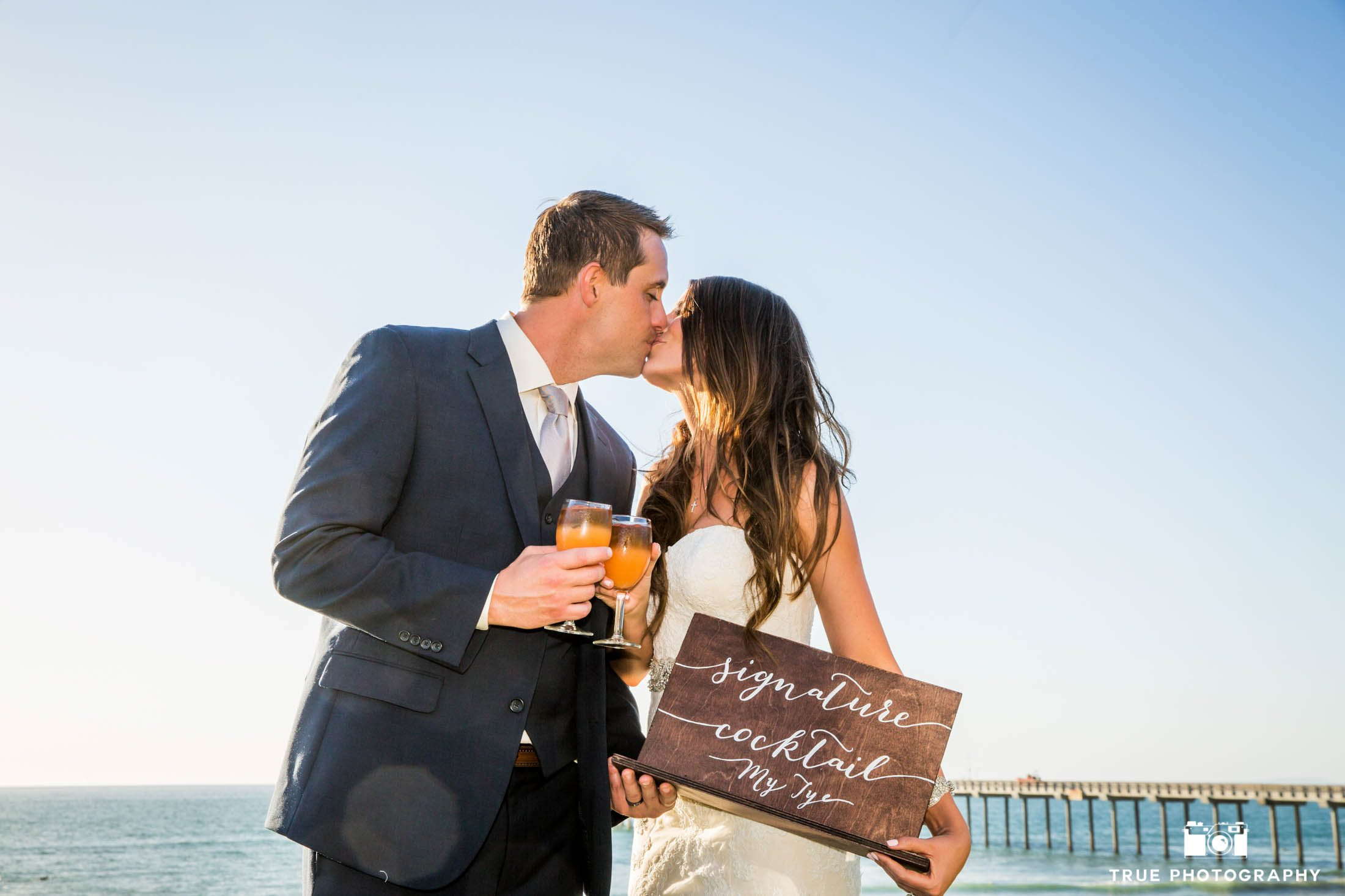 Fun Couple beach wedding