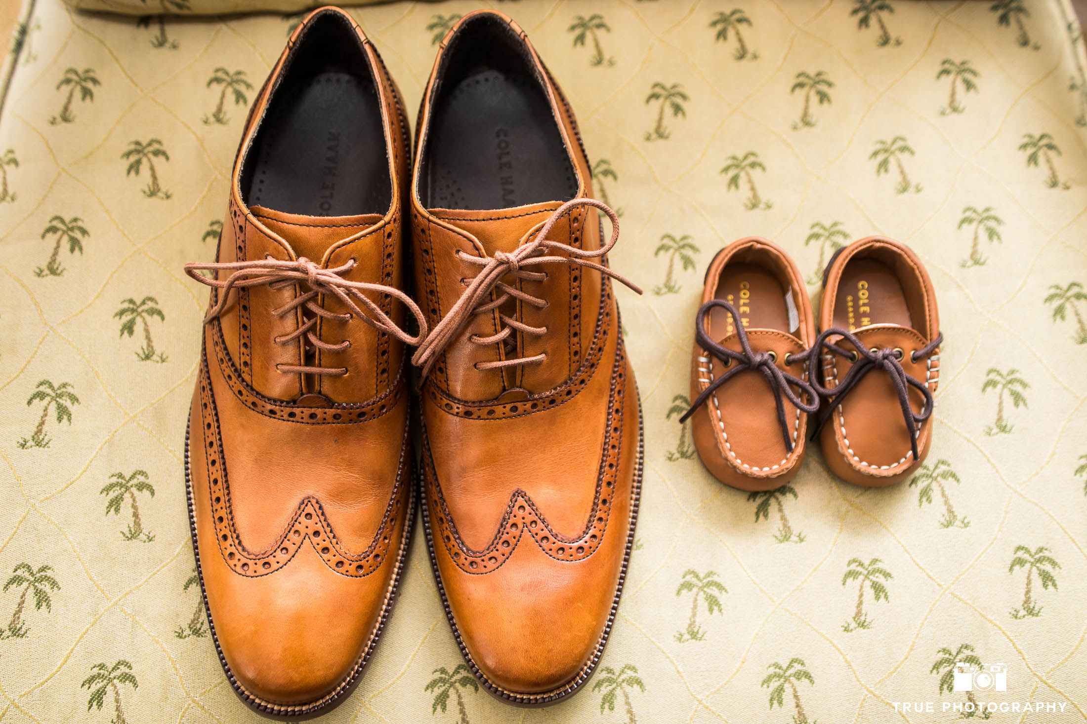 Matching Coleman's dress shoes for Groom and Son
