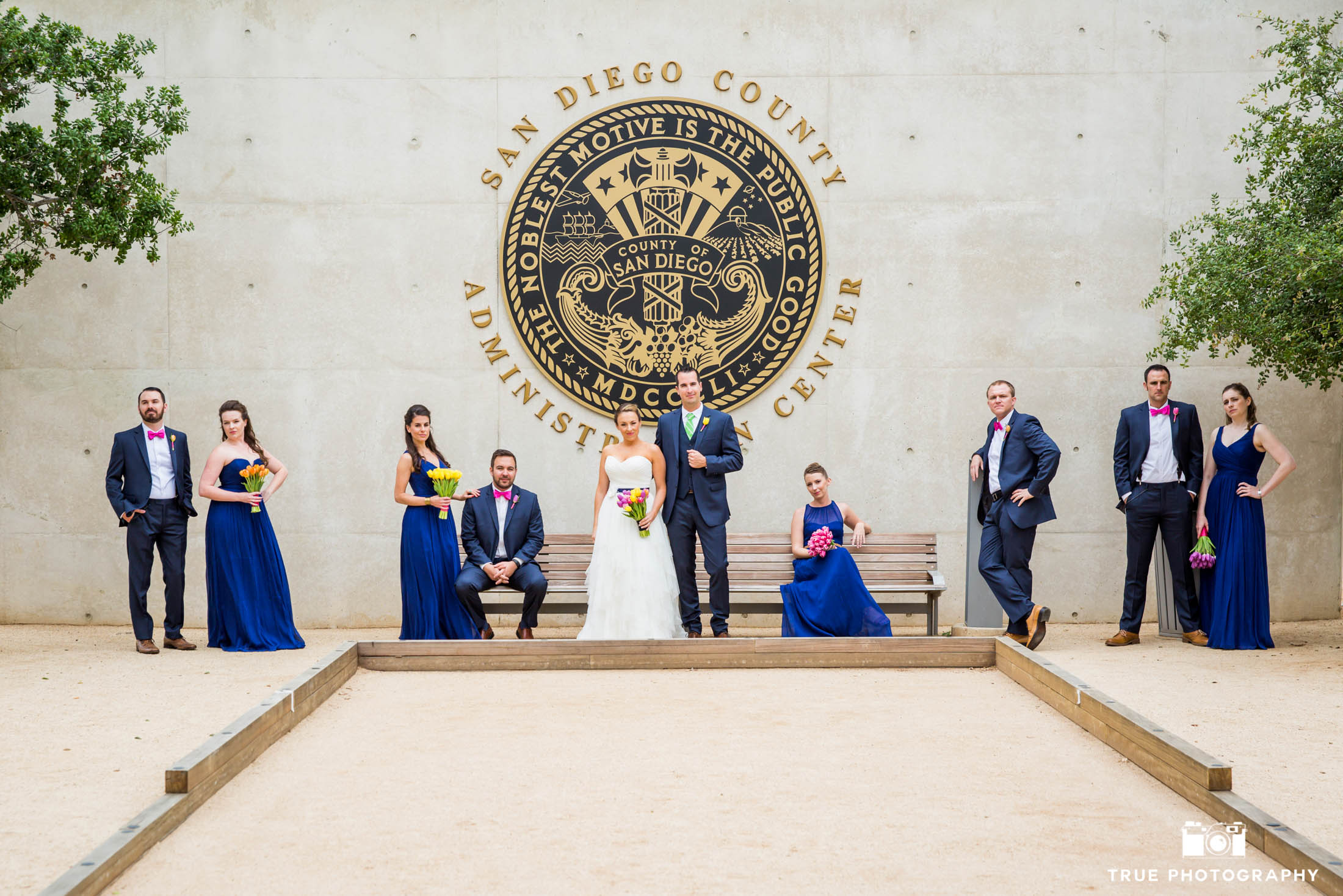 Courthouse Wedding Party