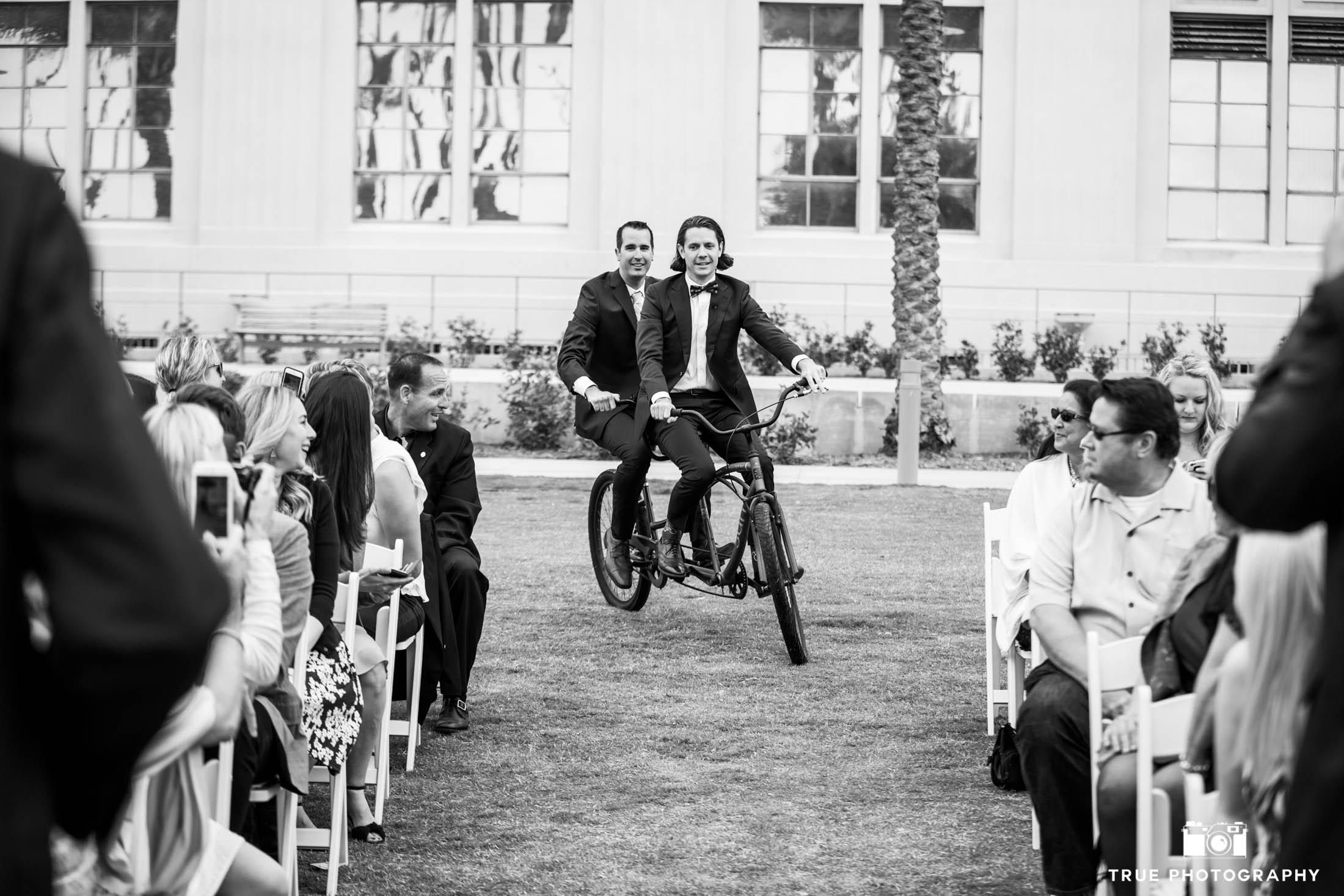 Tandem Bicycle Wedding Fun