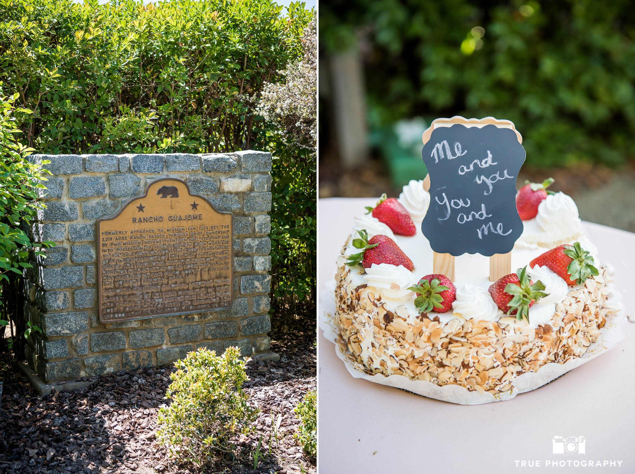 Rustic-inspired wedding cake during wedding at Spanish-style venue