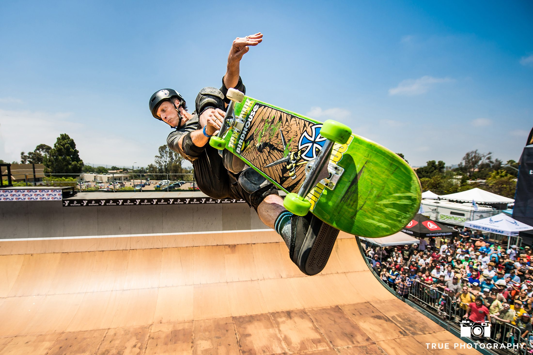 Tony Hawk Skateboarding Half Pipe San Diego Clash at Clairemont
