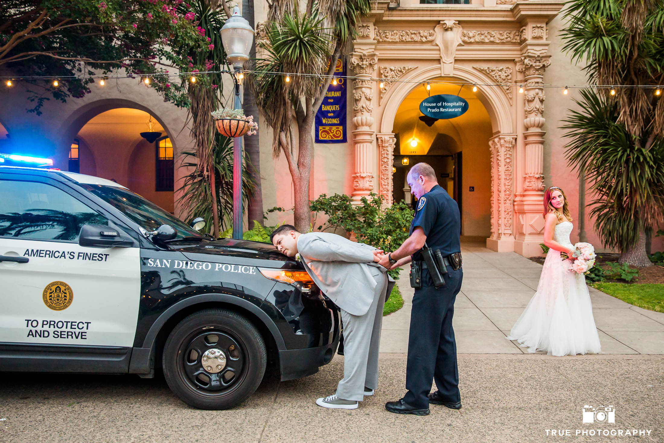 Funny photo of Groom getting handcuffed and arrested