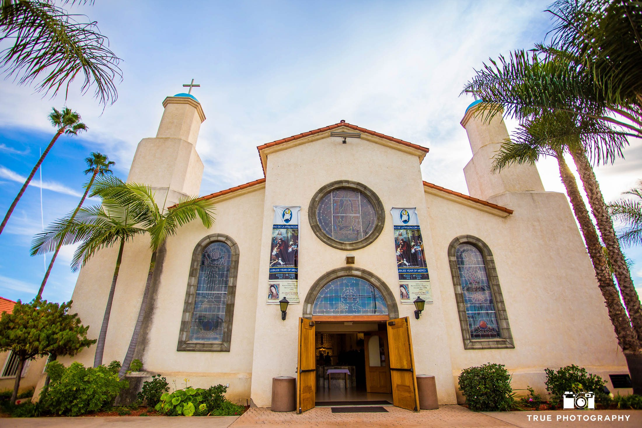Exterior of Our Lady of Guadalupe Church in Chula Vista, California