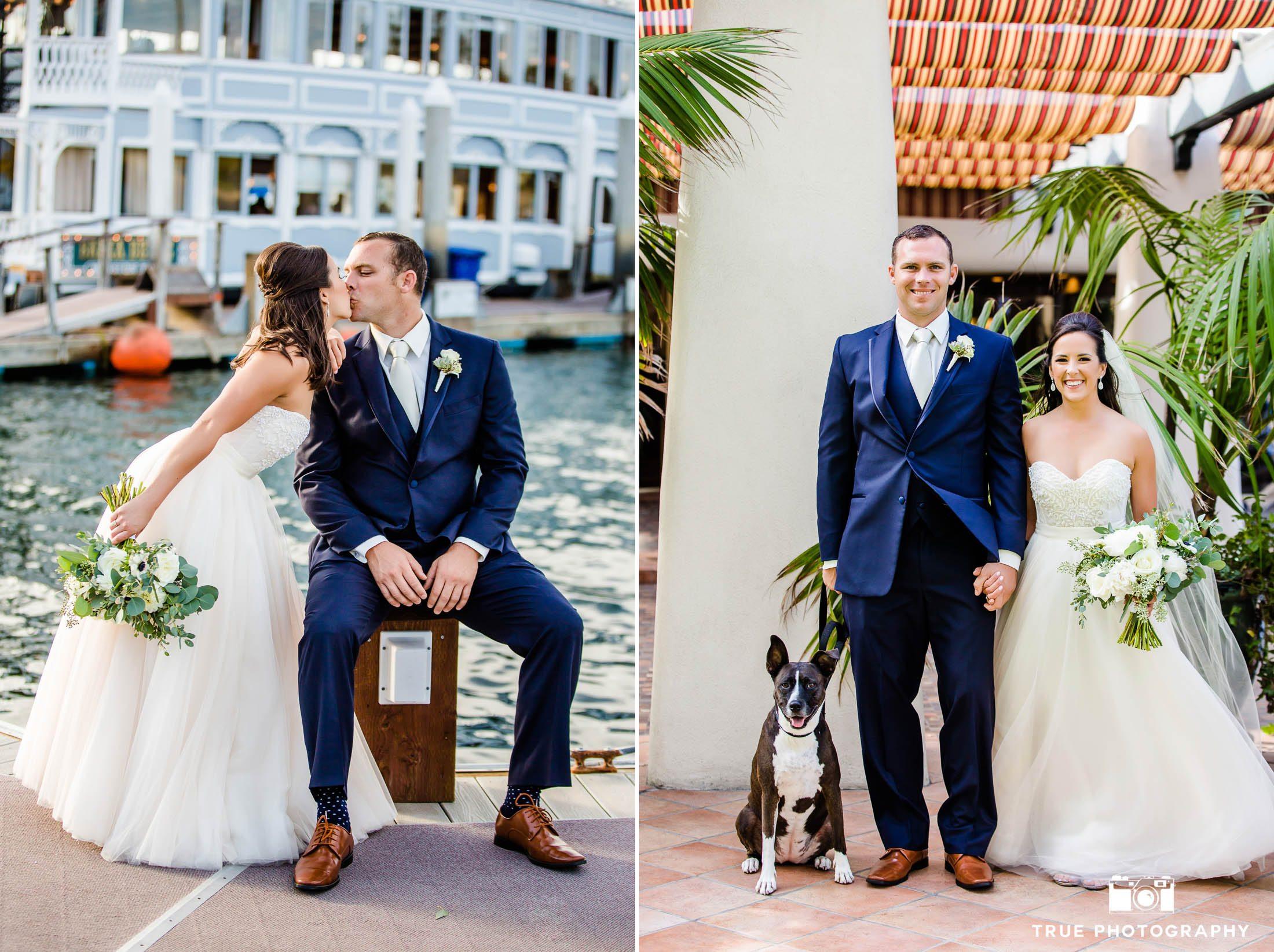 Wedding Couple and their Dog