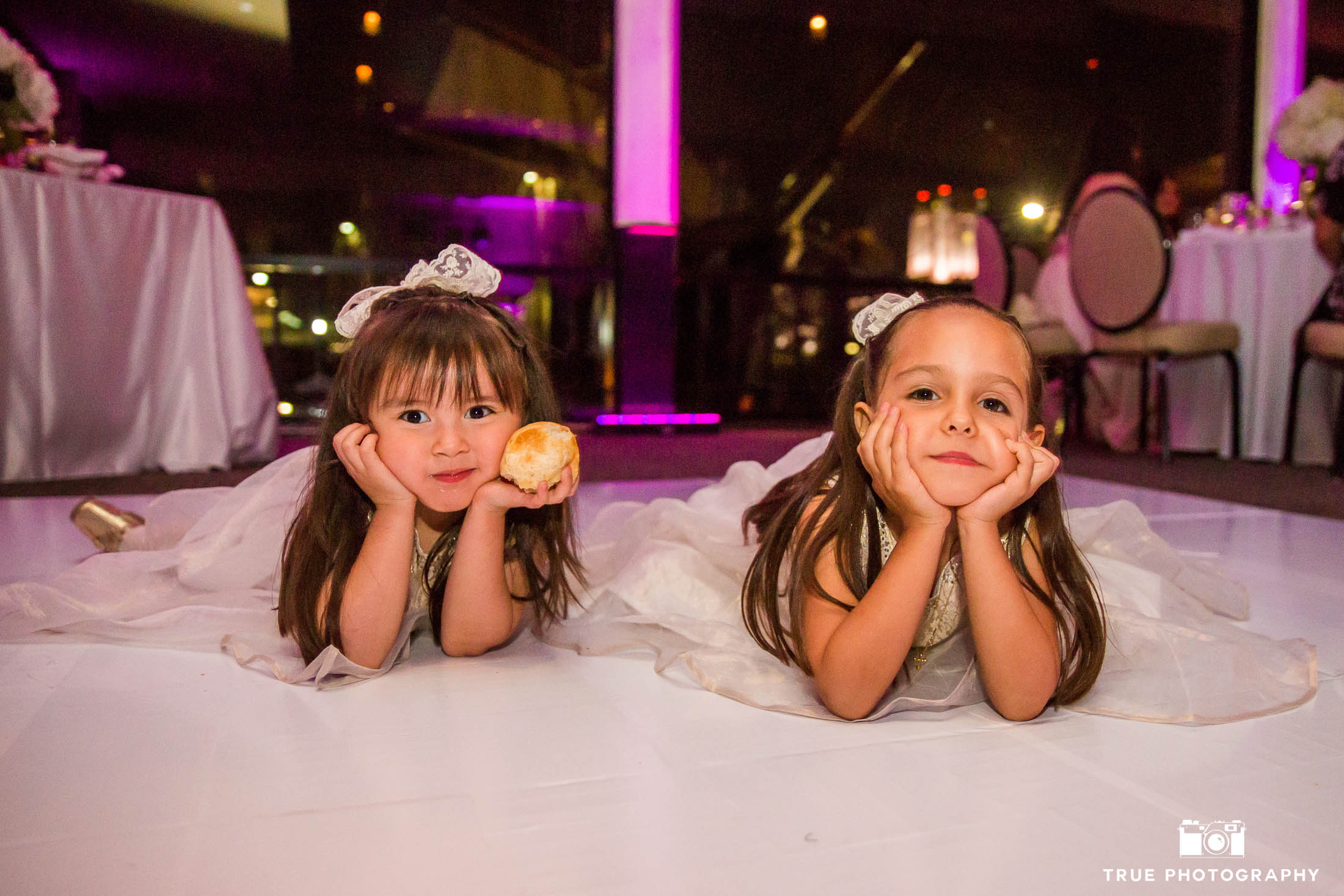 Cute flowergirls on Dancefloor