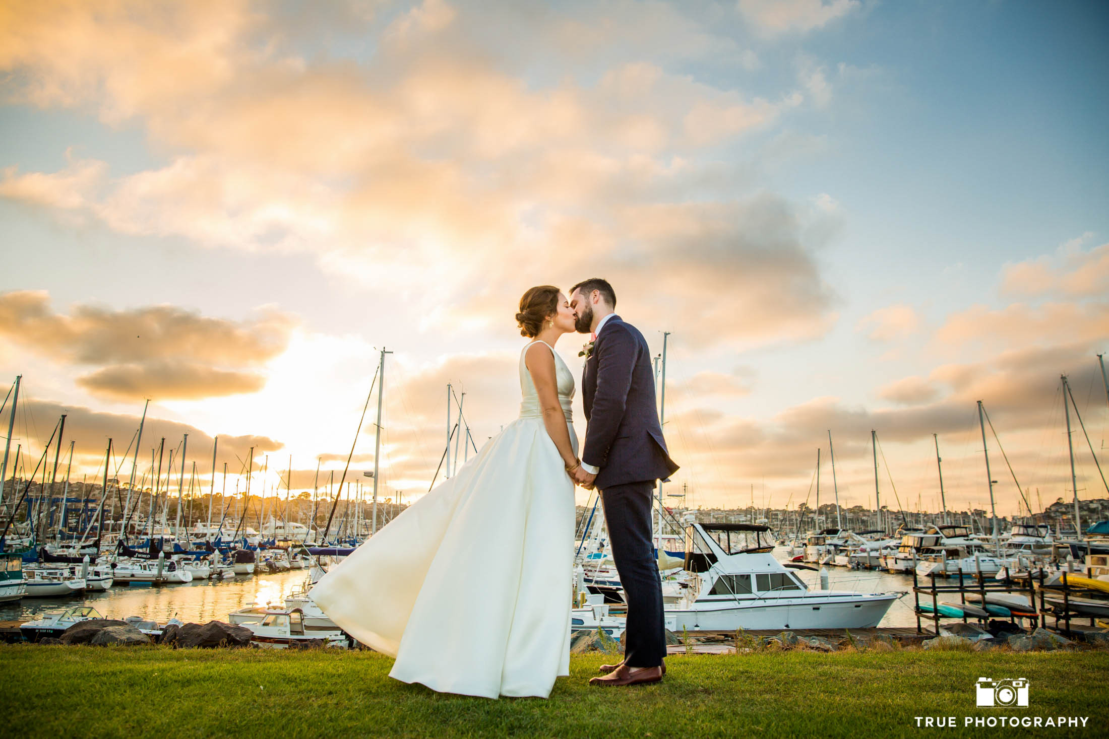 Lovely wedding photo at San Diego Harbor