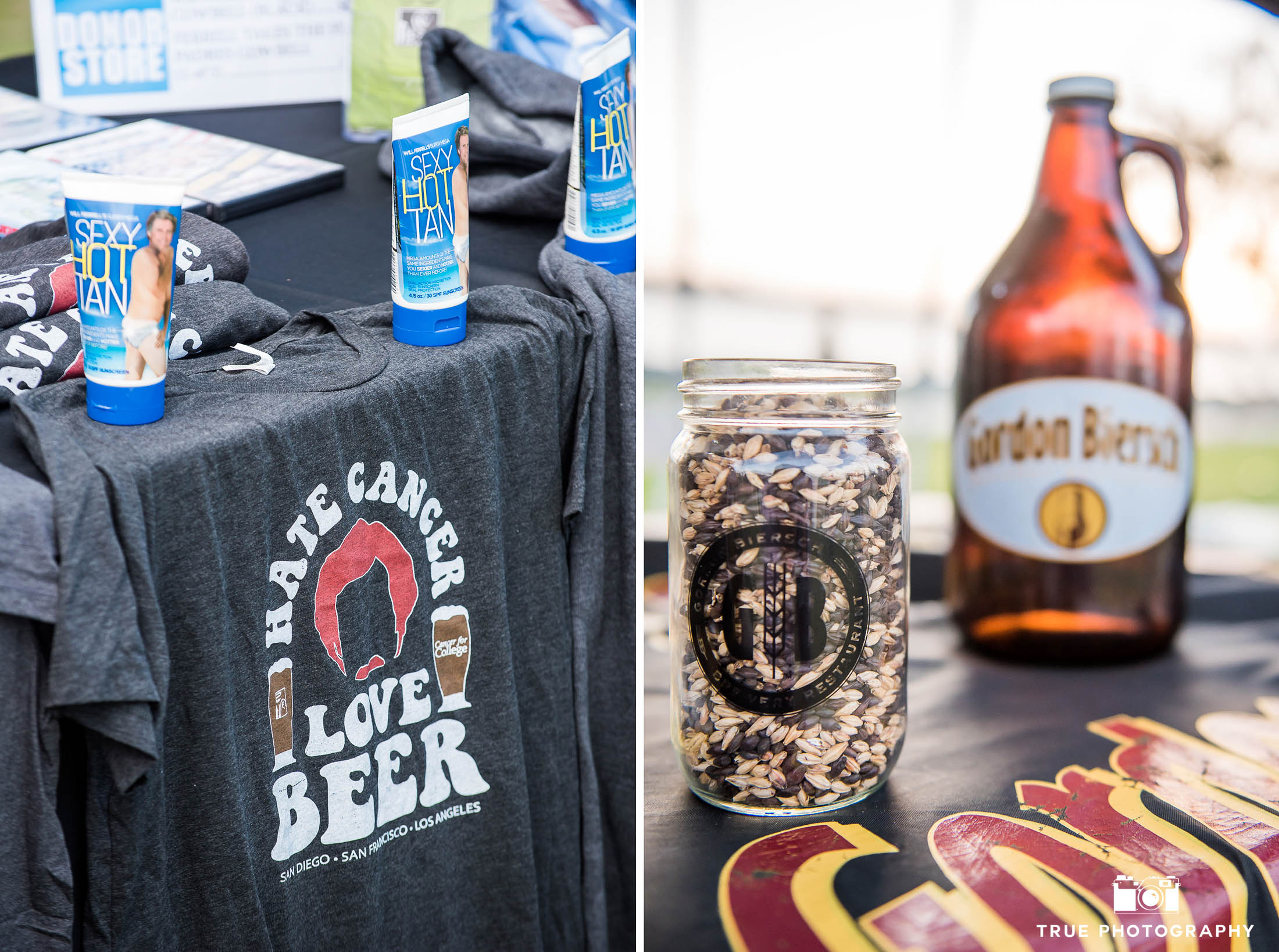 Cancer Prevention and Beer merchandise at Best Coast Beer Fest