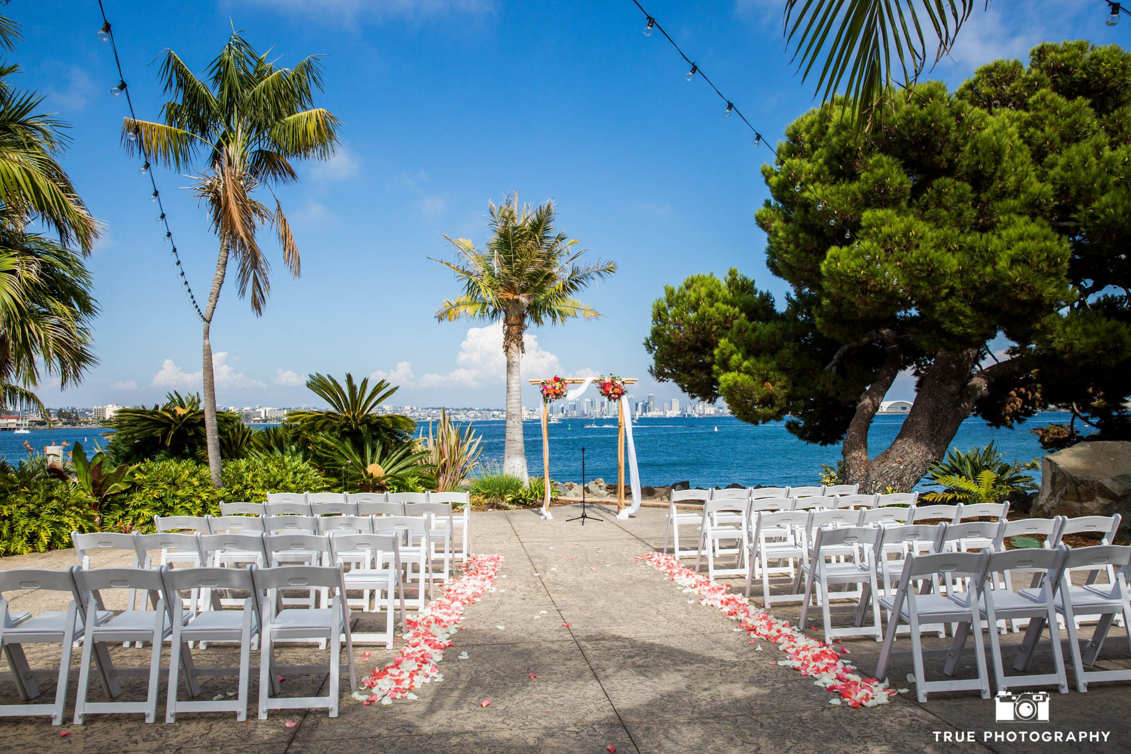 tropical wedding ceremony site