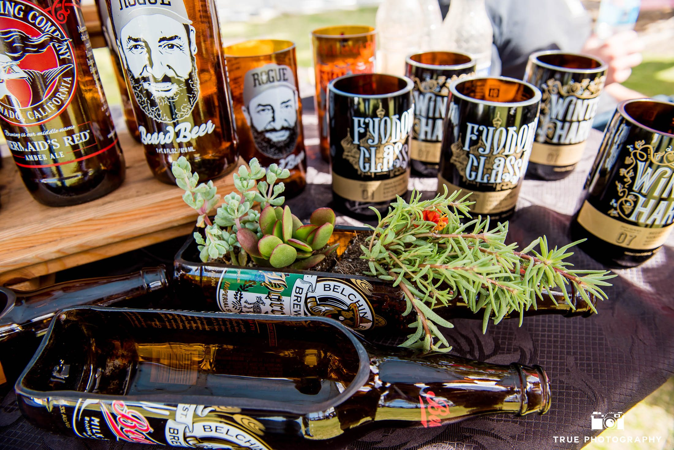 Custom beer glass art at Best Coast Beer Fest at Embarcadero Park