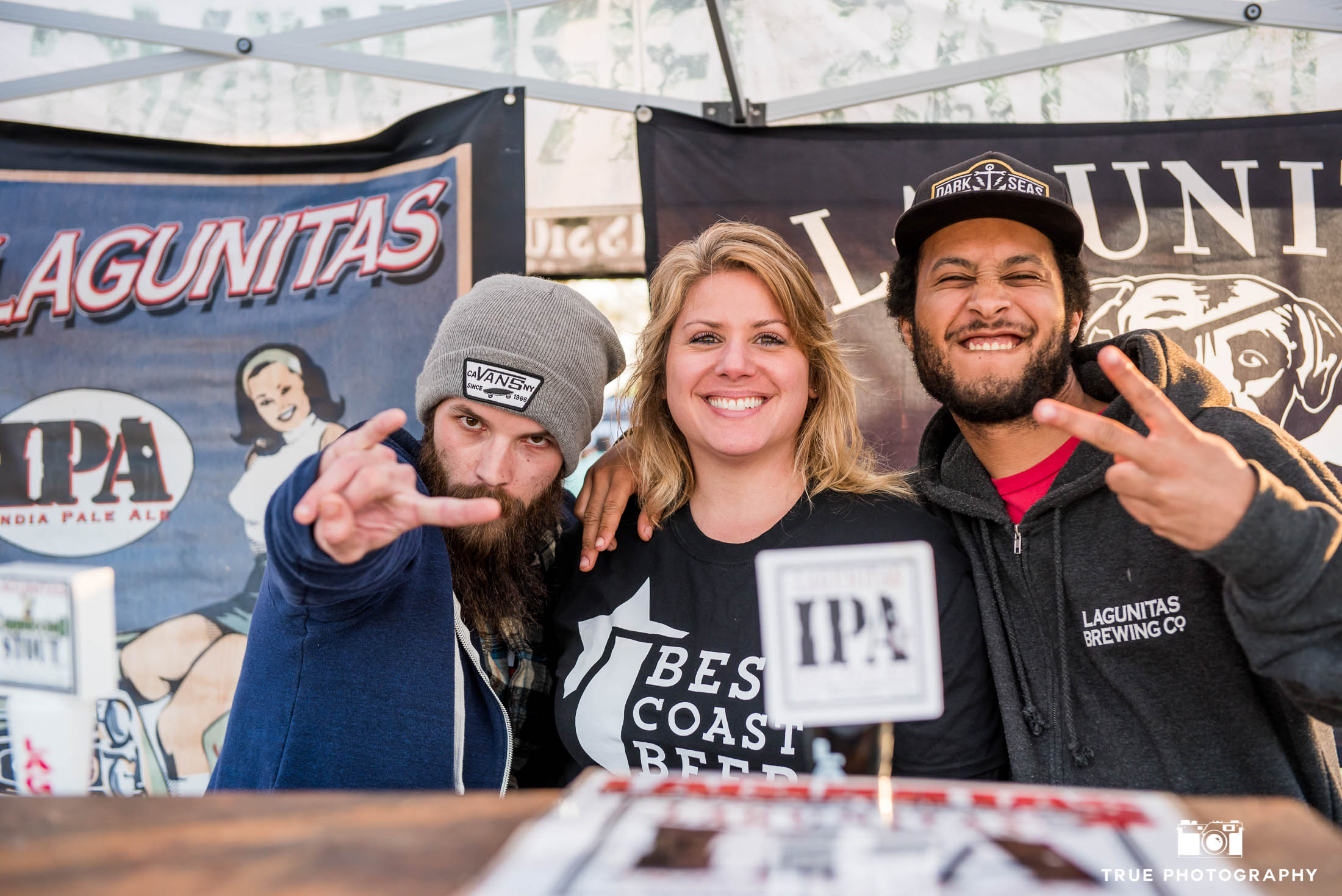 Brewers from Lagunitas Brewing Company pose for fun group photo during Best Coast Beer Fest