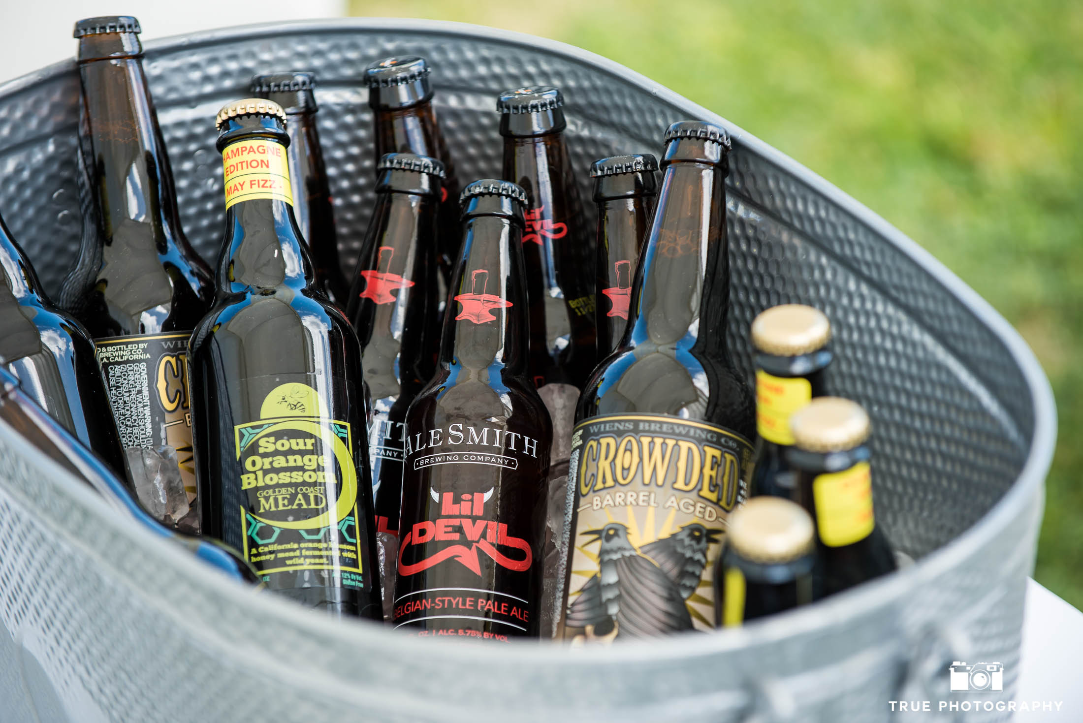 Cooler filled with west coast craft beers during Best Coast Beer Fest