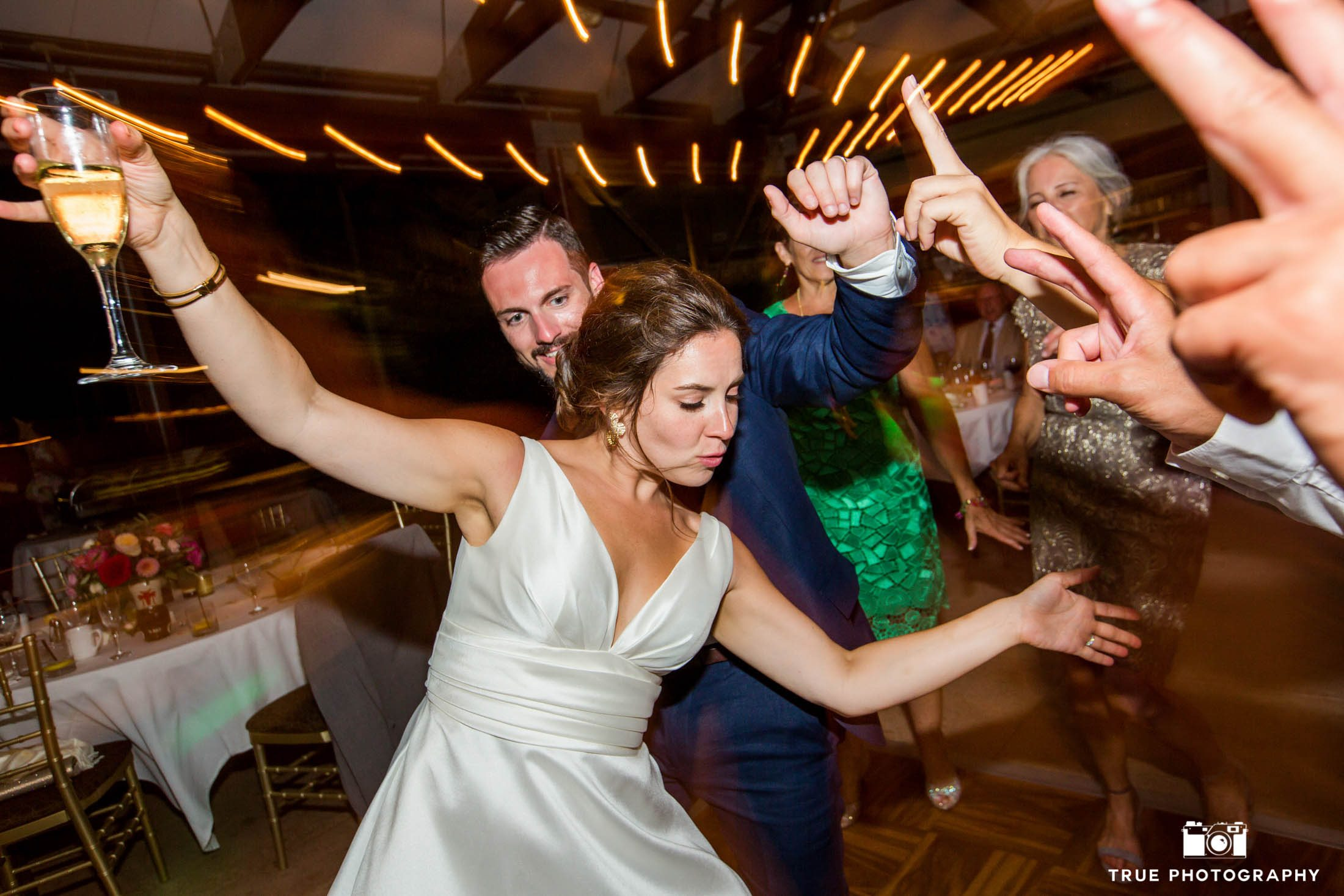 Candid wedding dancing photo