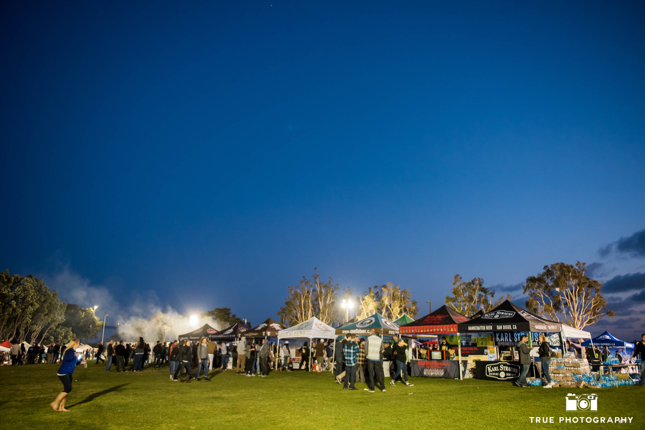 Night photo of Best Coast Beer Festival