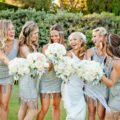 Bohemian bridesmaids having fun