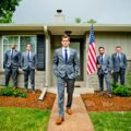 Groomsmen with American Flag