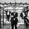 Groomsmen Style on A Playground