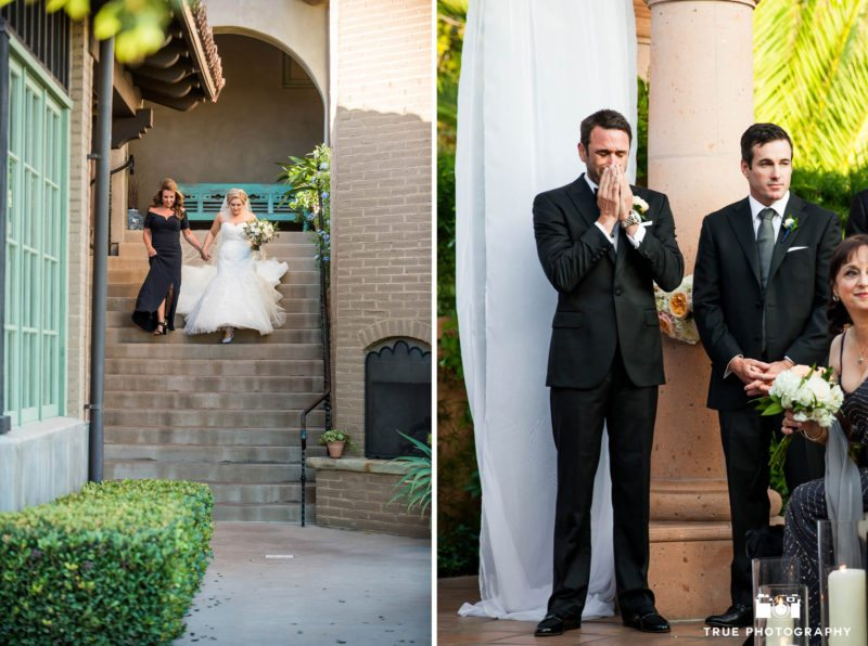 Bride and Groom reactions during wedding ceremony
