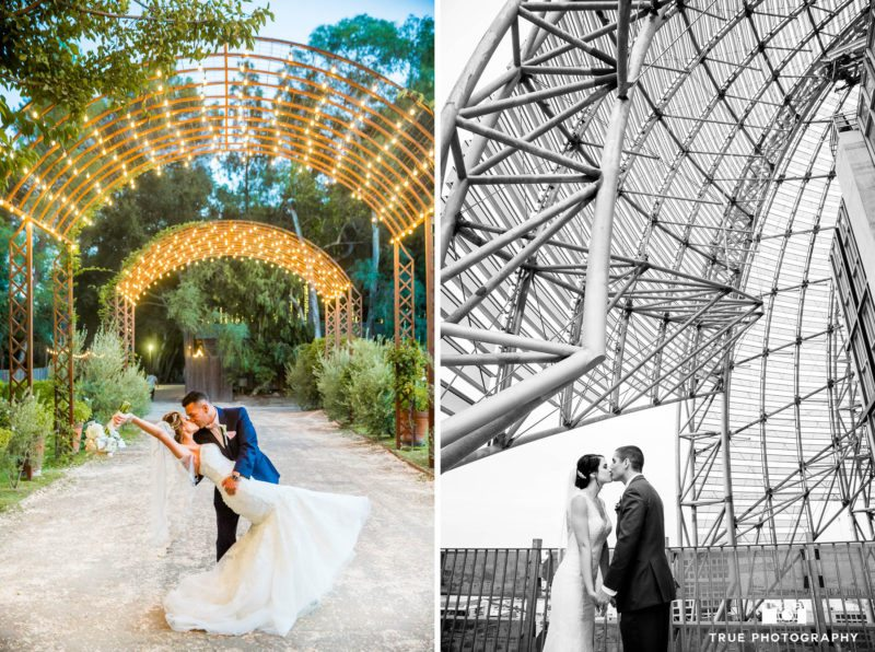 Dramatic and diverse locations for wedding day photos