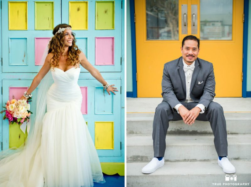 Colorful Bride and Groom Portraits