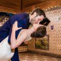 wedding couple first dance romantic dip