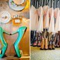 Cowboy themed bridal party.