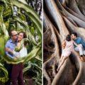 Balboa Park cactus engagement photo