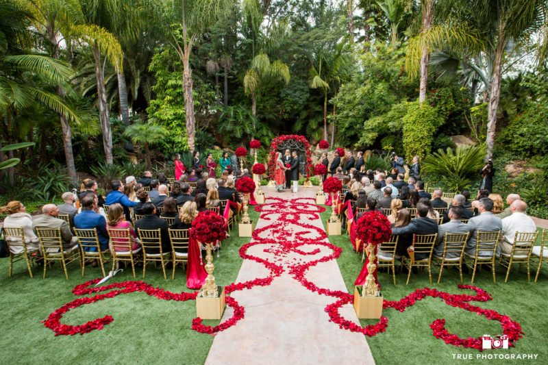 Colorful wedding Ceremony at Arbor Terrace