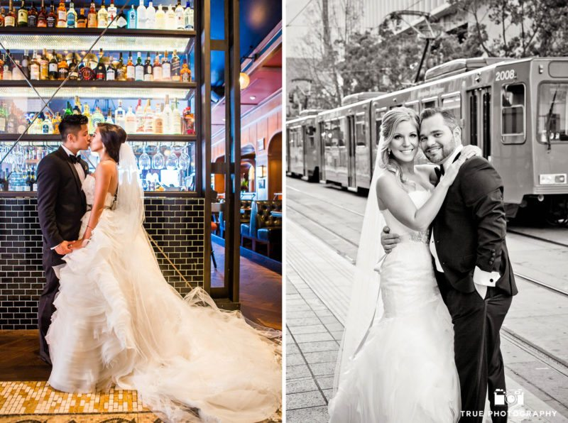 Bride and Groom portraits in Downtown San Diego