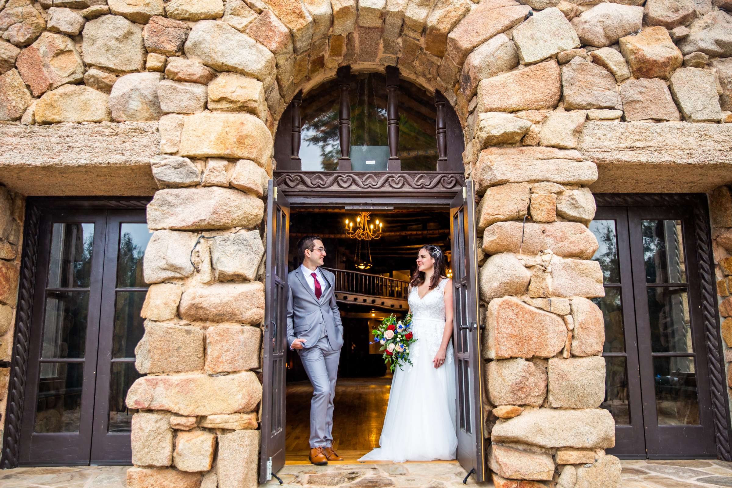 Mt Woodson Castle Wedding, Valerie and Ian Wedding Photo #32 by True Photography