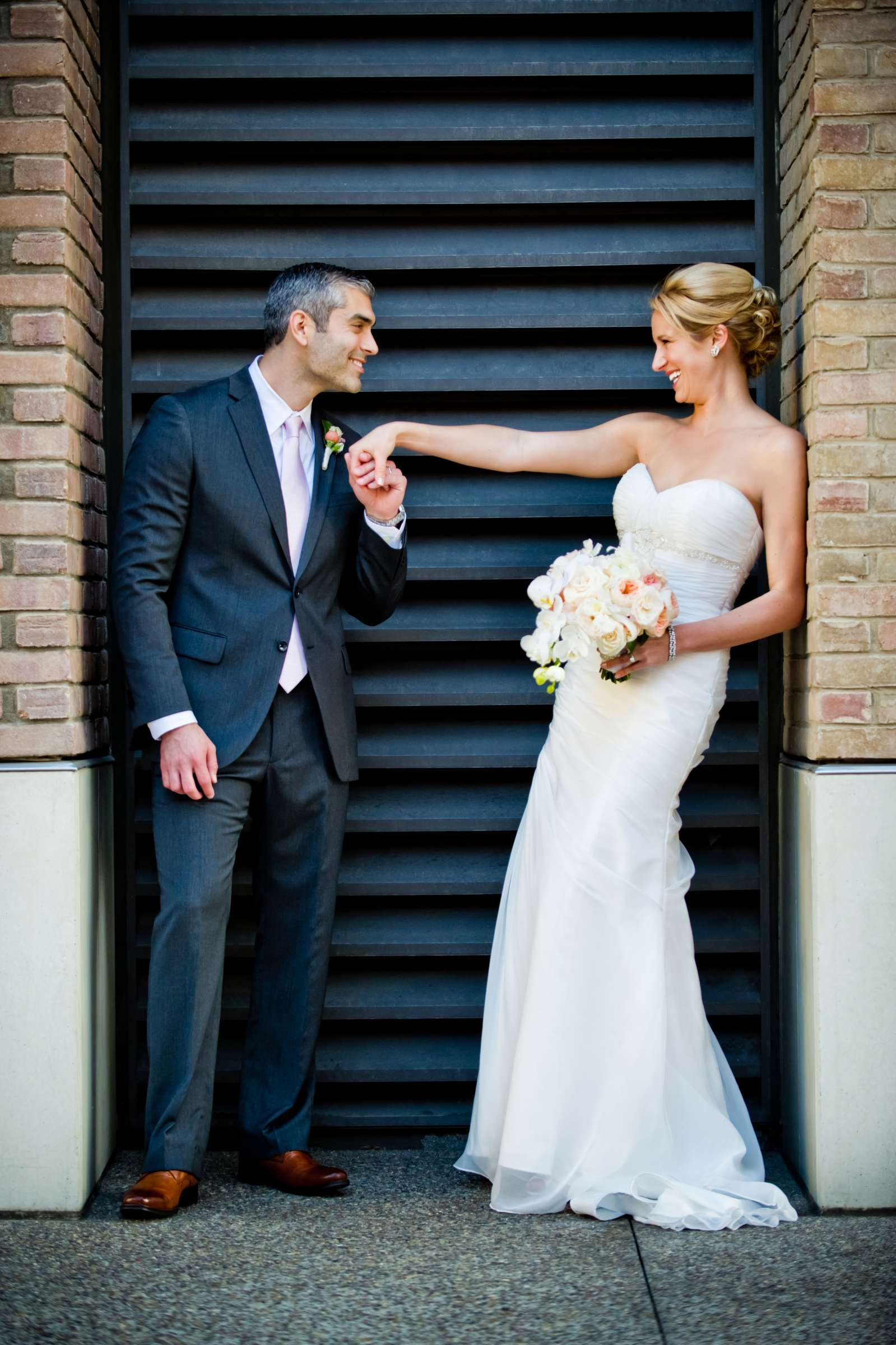 Stylized Portrait, Urban Downtown at Ultimate Skybox Wedding, Chelsea and Frank Wedding Photo #1 by True Photography