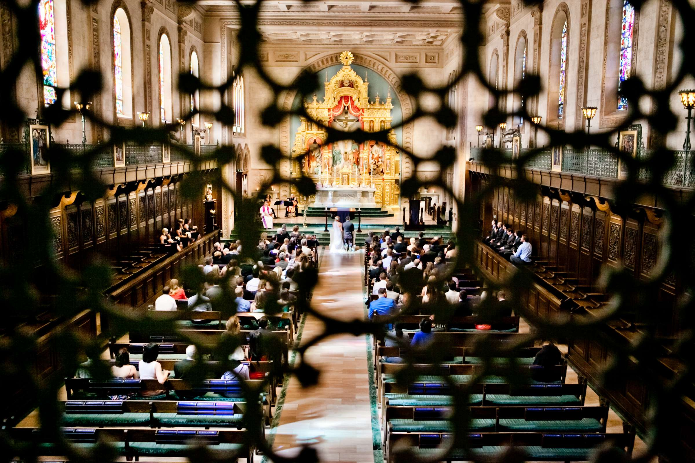 Church at Ultimate Skybox Wedding, Chelsea and Frank Wedding Photo #11 by True Photography