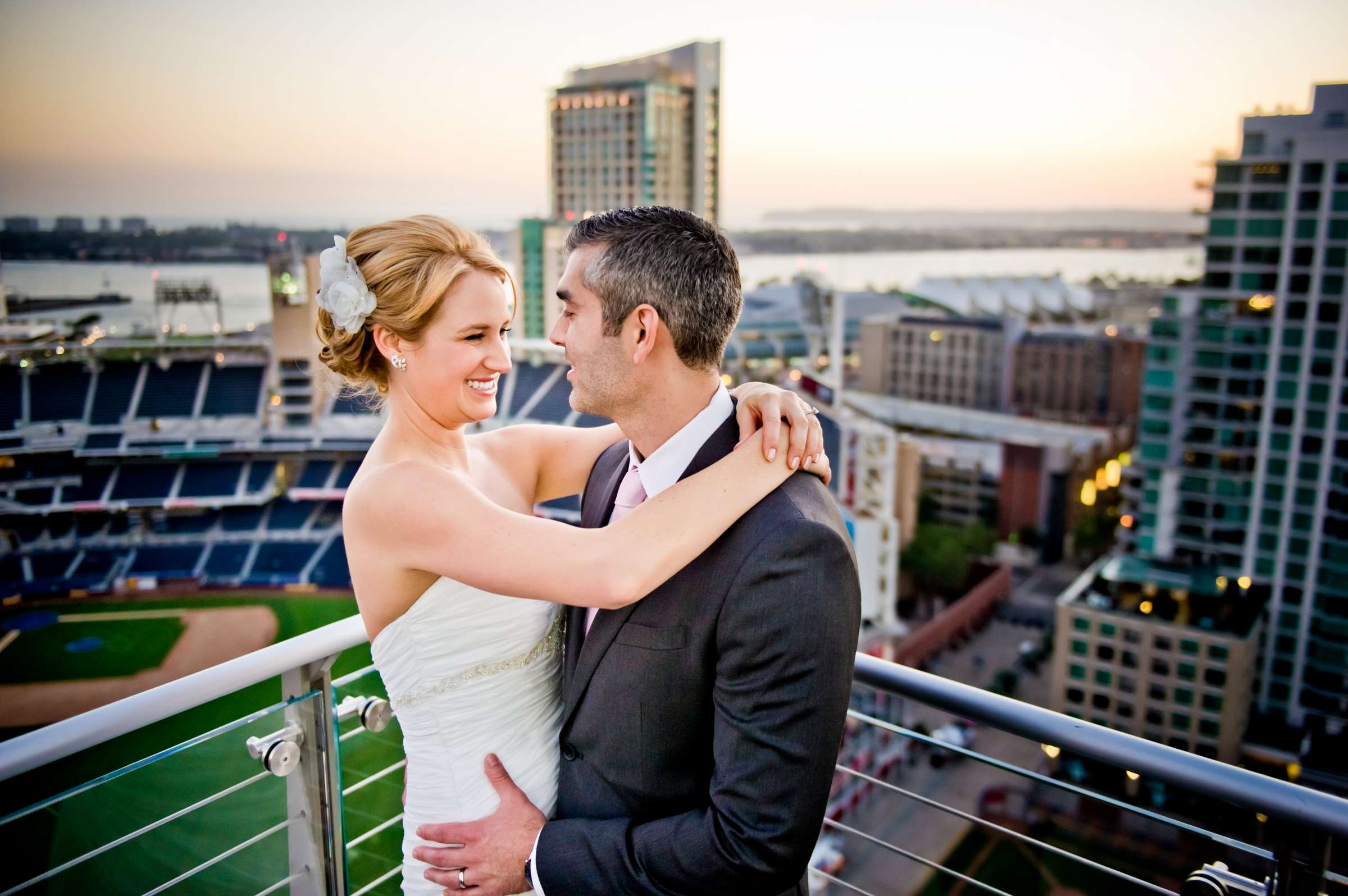 Urban Downtown at Ultimate Skybox Wedding, Chelsea and Frank Wedding Photo #15 by True Photography