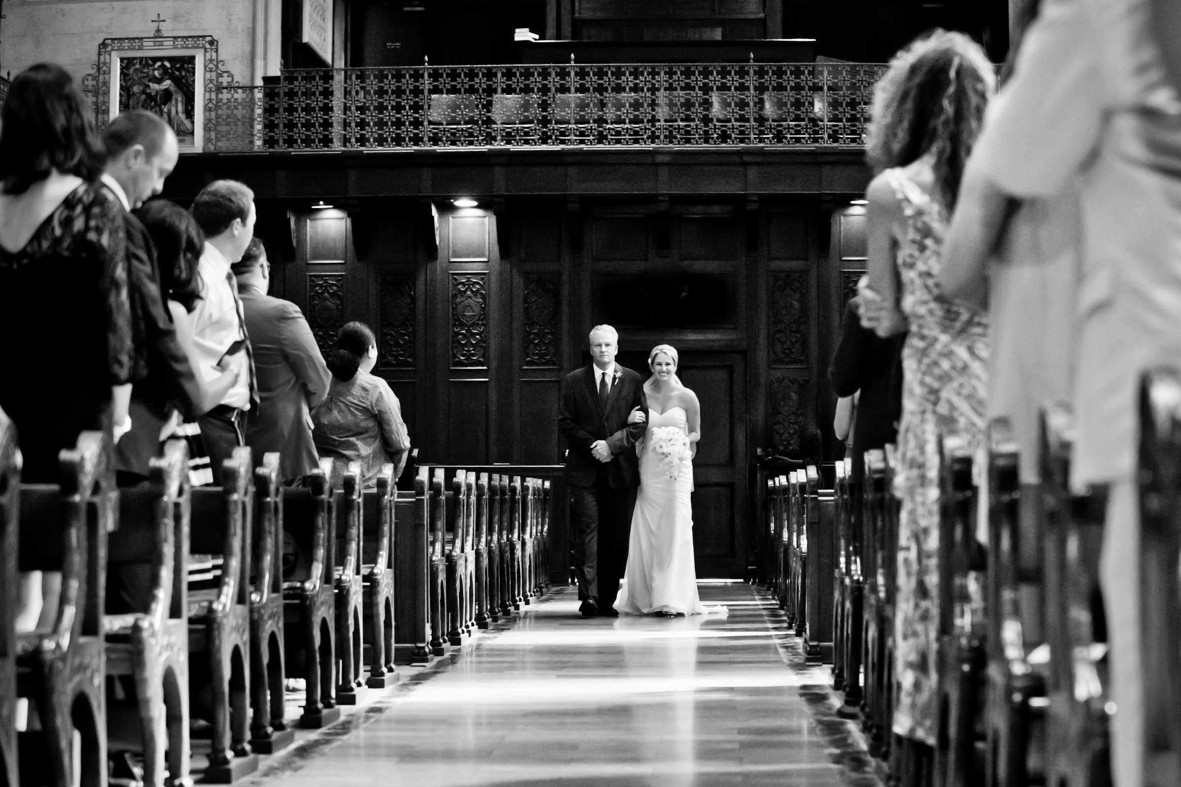 Father of the Bride, Church at Ultimate Skybox Wedding, Chelsea and Frank Wedding Photo #32 by True Photography