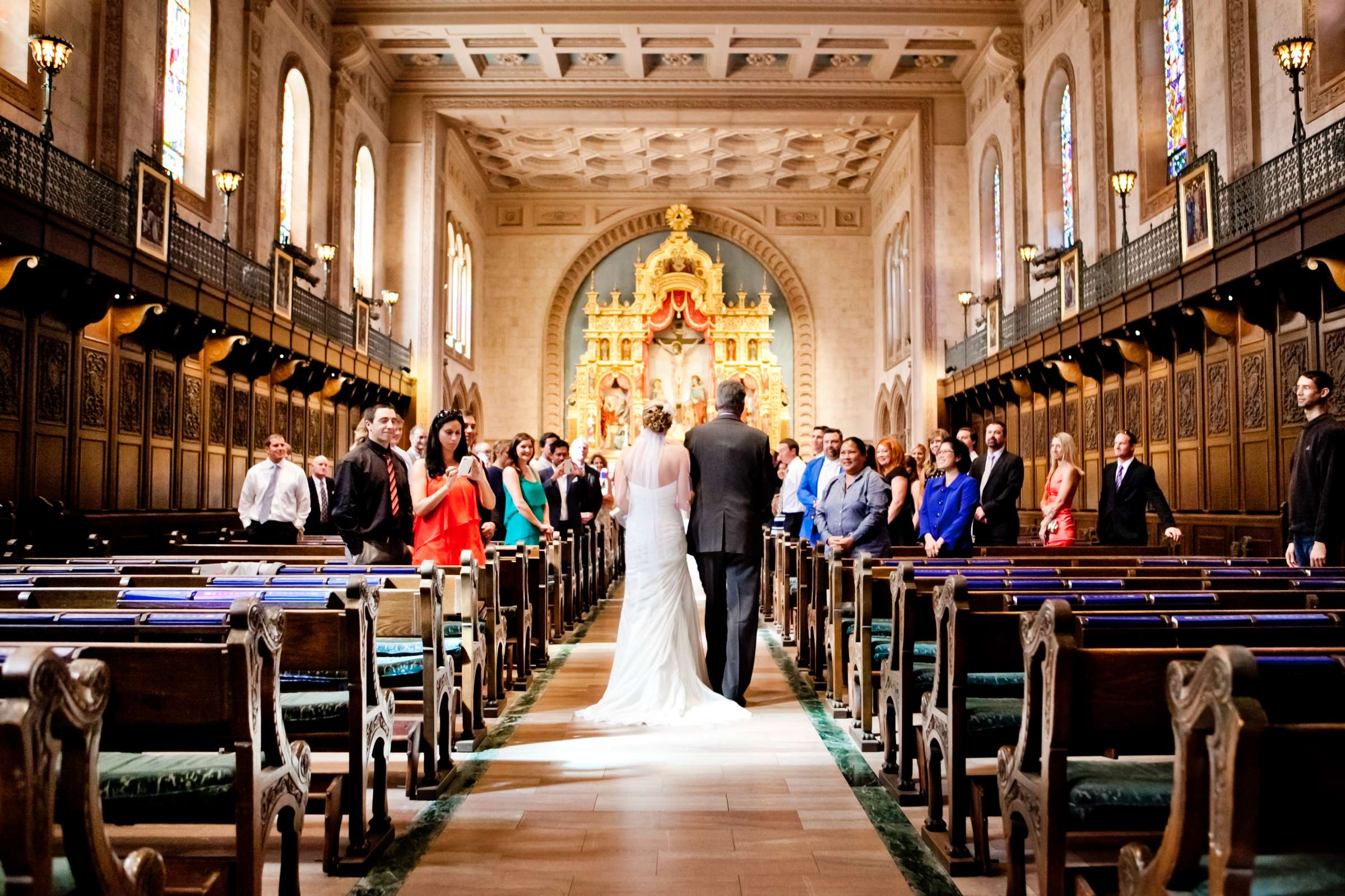 Church at Ultimate Skybox Wedding, Chelsea and Frank Wedding Photo #34 by True Photography