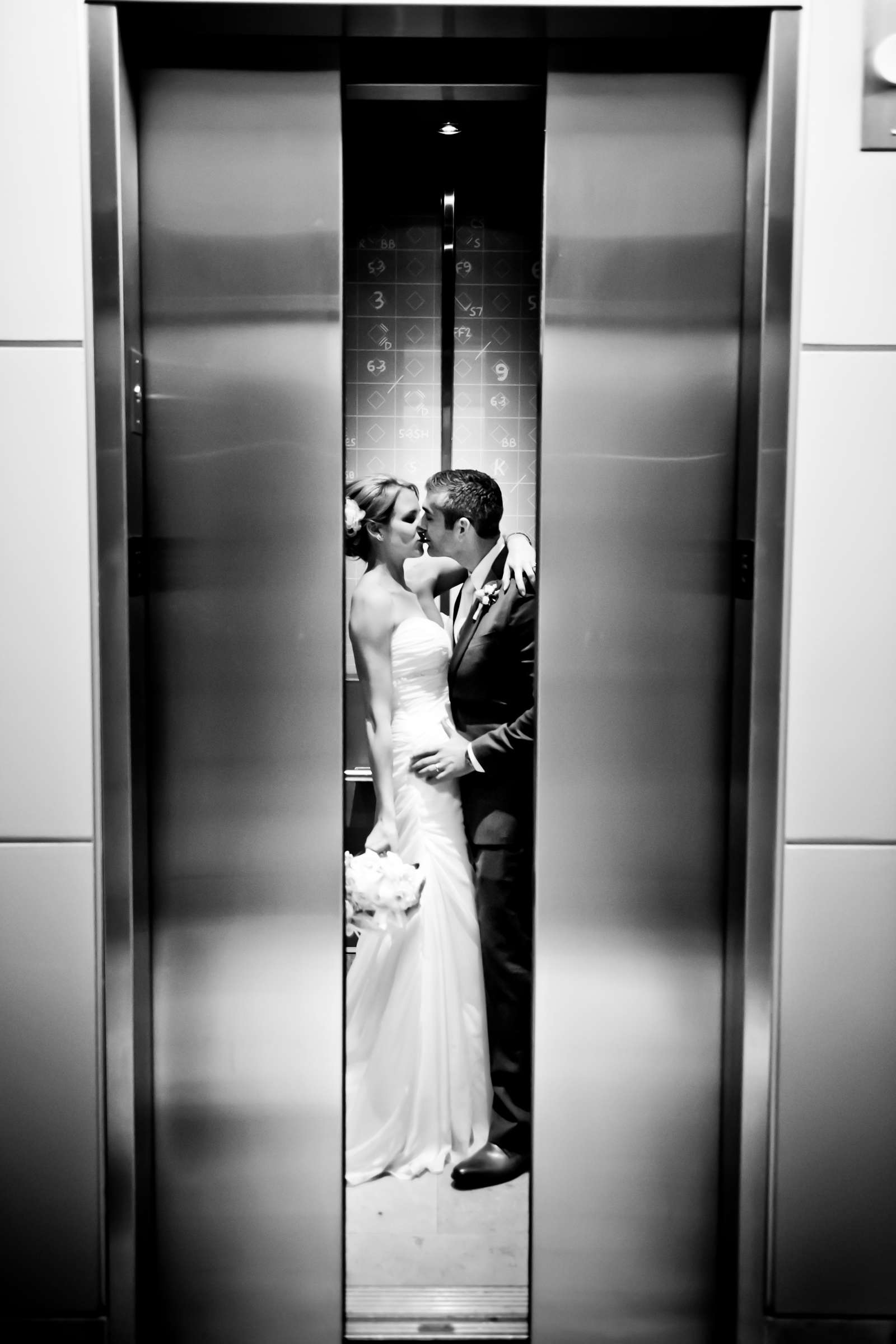 Romantic moment, Urban Downtown at Ultimate Skybox Wedding, Chelsea and Frank Wedding Photo #4 by True Photography