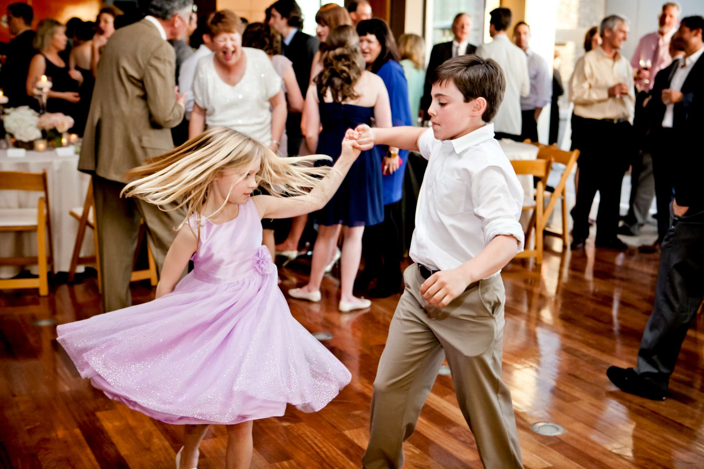 Dancing, Kids at Ultimate Skybox Wedding, Chelsea and Frank Wedding Photo #54 by True Photography