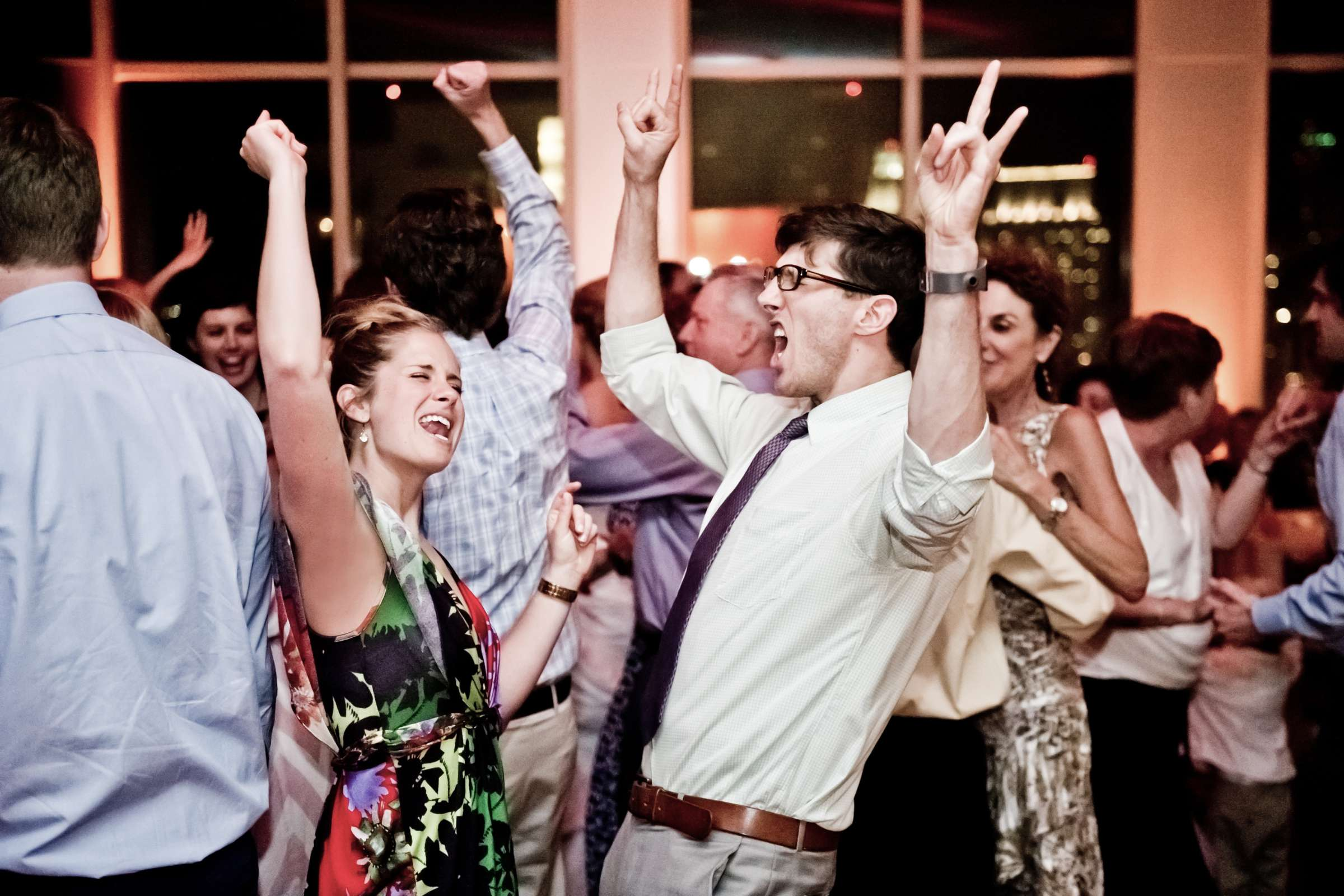 Dancing at Ultimate Skybox Wedding, Chelsea and Frank Wedding Photo #59 by True Photography