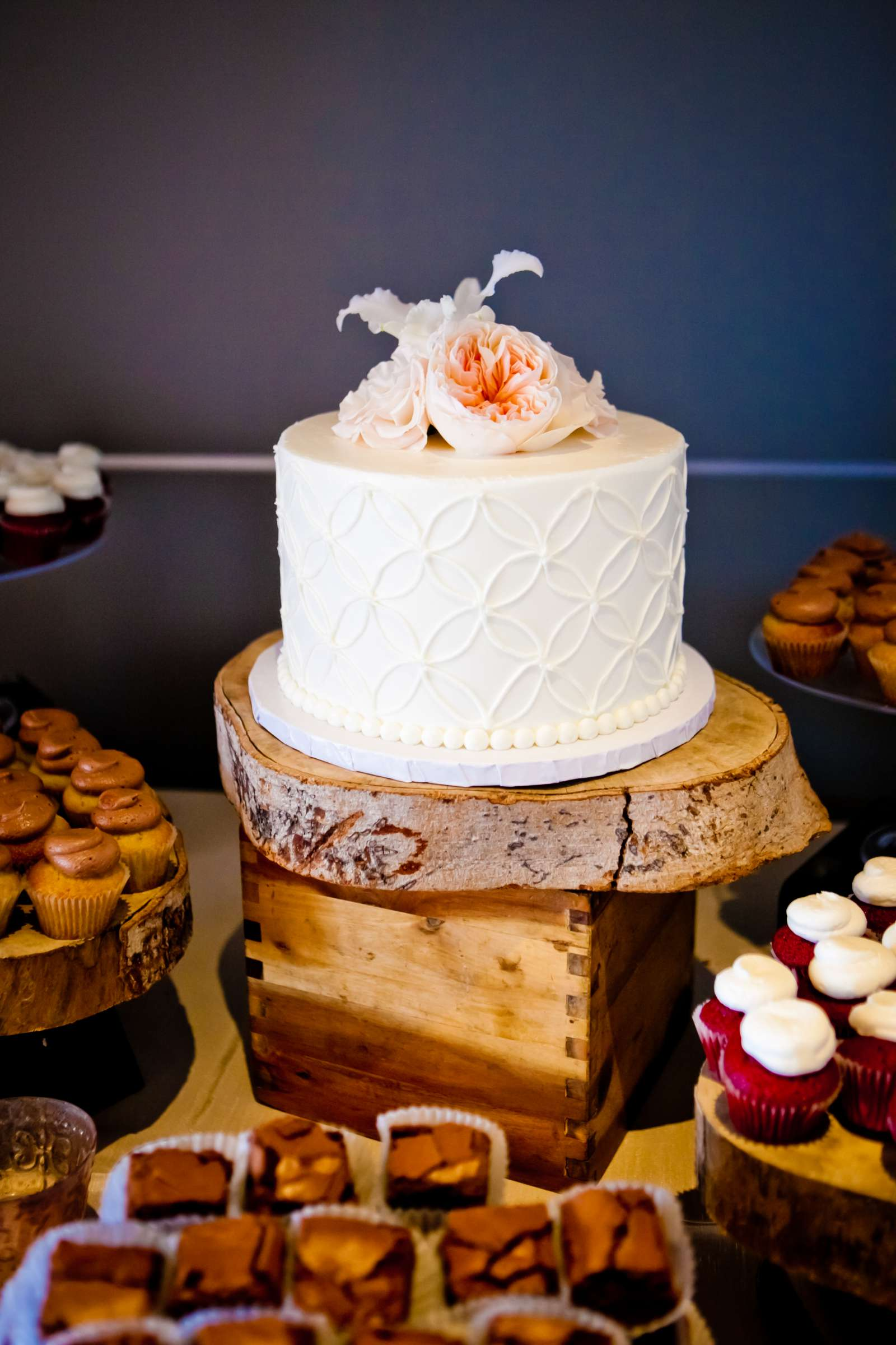Cake at Ultimate Skybox Wedding, Chelsea and Frank Wedding Photo #61 by True Photography
