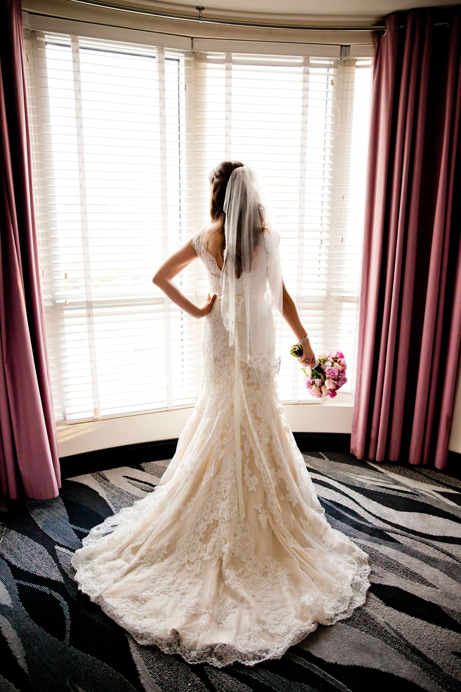 Wedding Dress at The Prado Wedding coordinated by First Comes Love Weddings & Events, Erin and Peter Wedding Photo #23 by True Photography