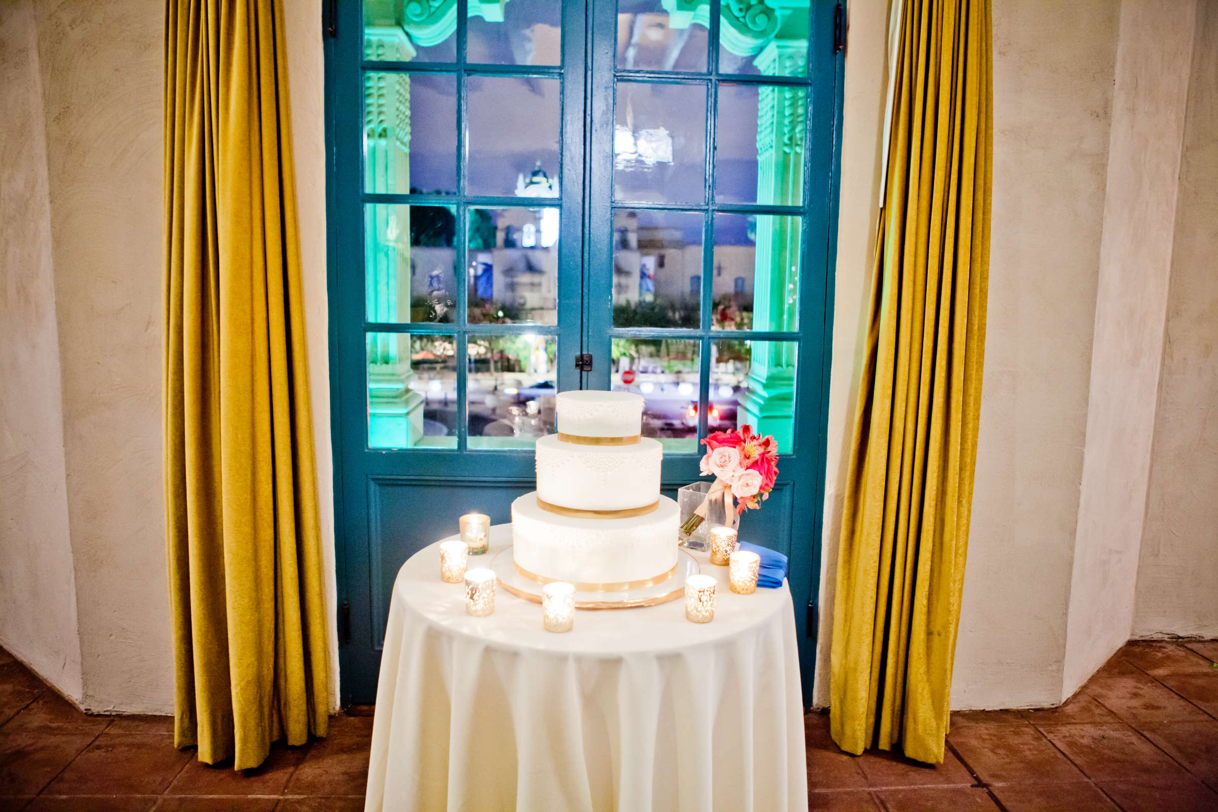 Cake at The Prado Wedding coordinated by First Comes Love Weddings & Events, Erin and Peter Wedding Photo #46 by True Photography