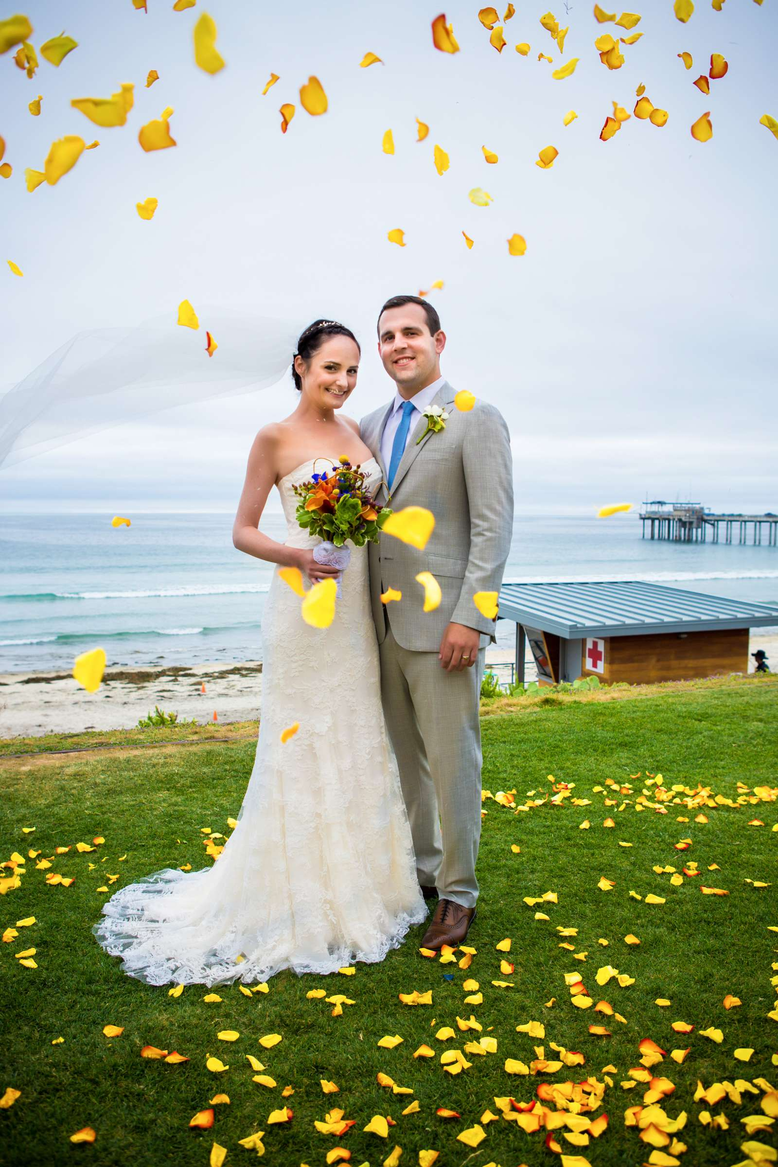 Scripps Seaside Forum Wedding coordinated by Francine Ribeau Events, Shaina and Christopher Wedding Photo #10 by True Photography