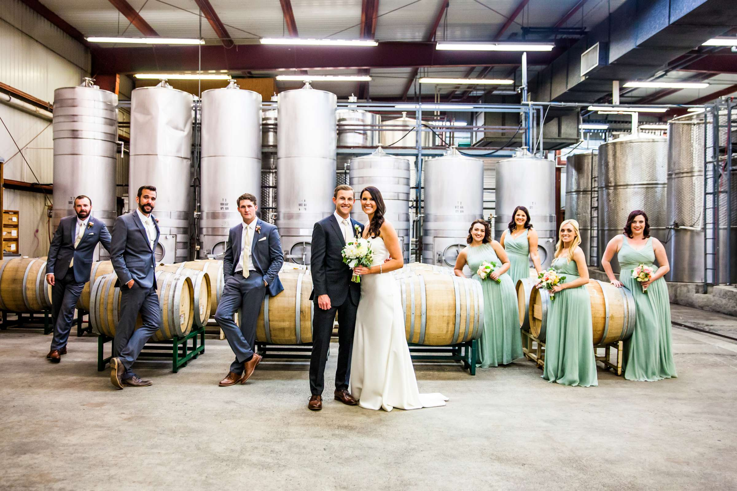 Rustic photo, Winery, Bridal Party at Orfila Vineyards Wedding, Brittany and Matt Wedding Photo #14 by True Photography