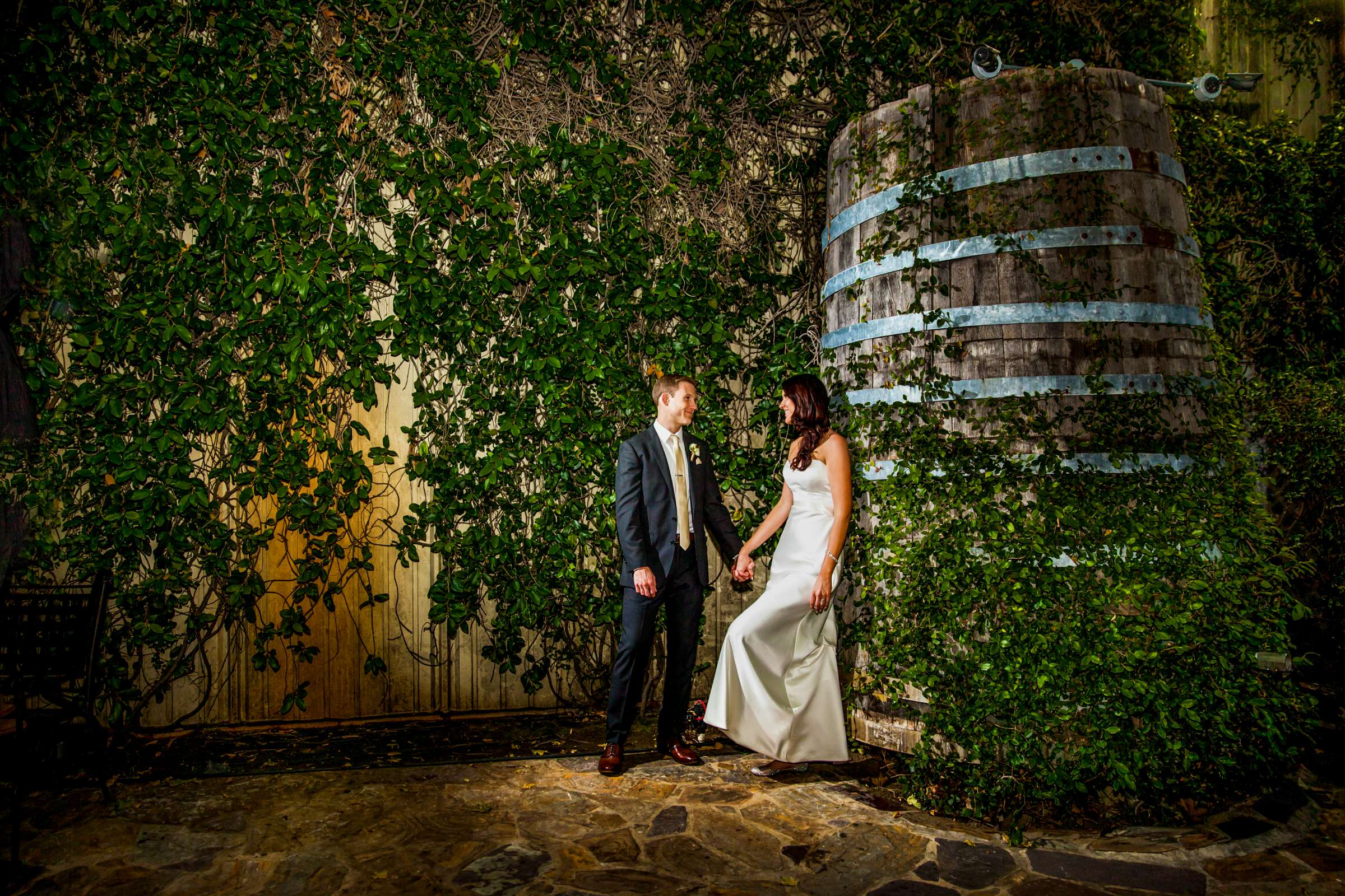 Winery, Bride and Groom at Orfila Vineyards Wedding, Brittany and Matt Wedding Photo #1 by True Photography